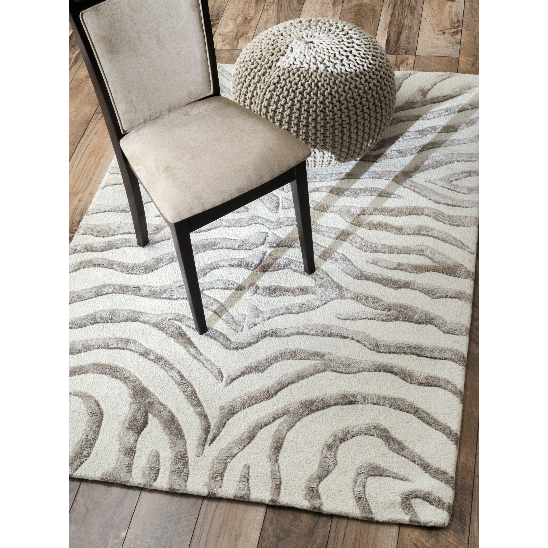 NuLOOM Earth Soft Zebra Gray Area Rug & Reviews