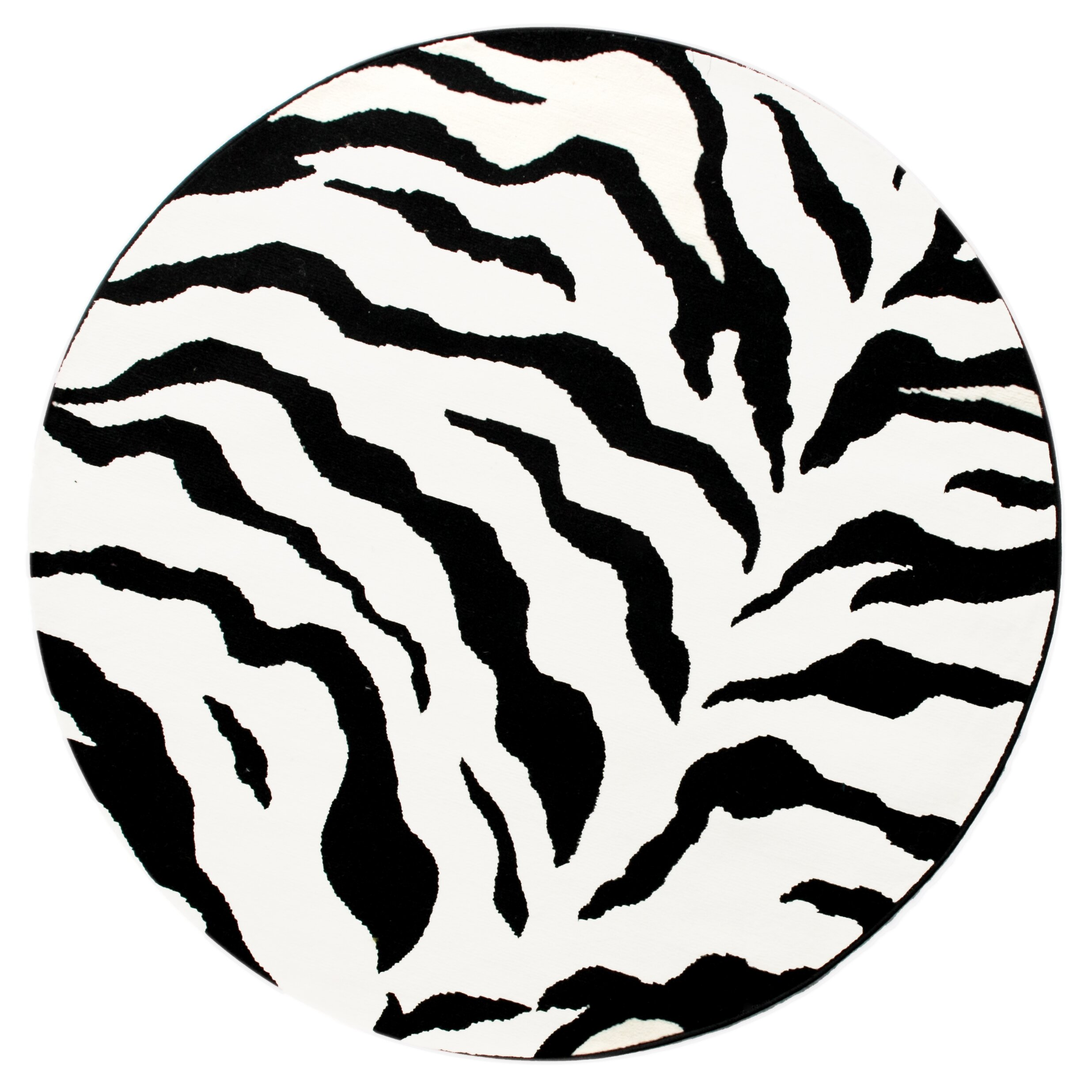 NuLOOM Earth Zebra Print Black/Ivory Area Rug & Reviews
