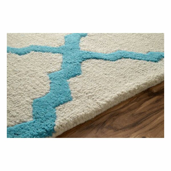Nuloom moderna moroccan trellis turquoise area rug for Turquoise area rug