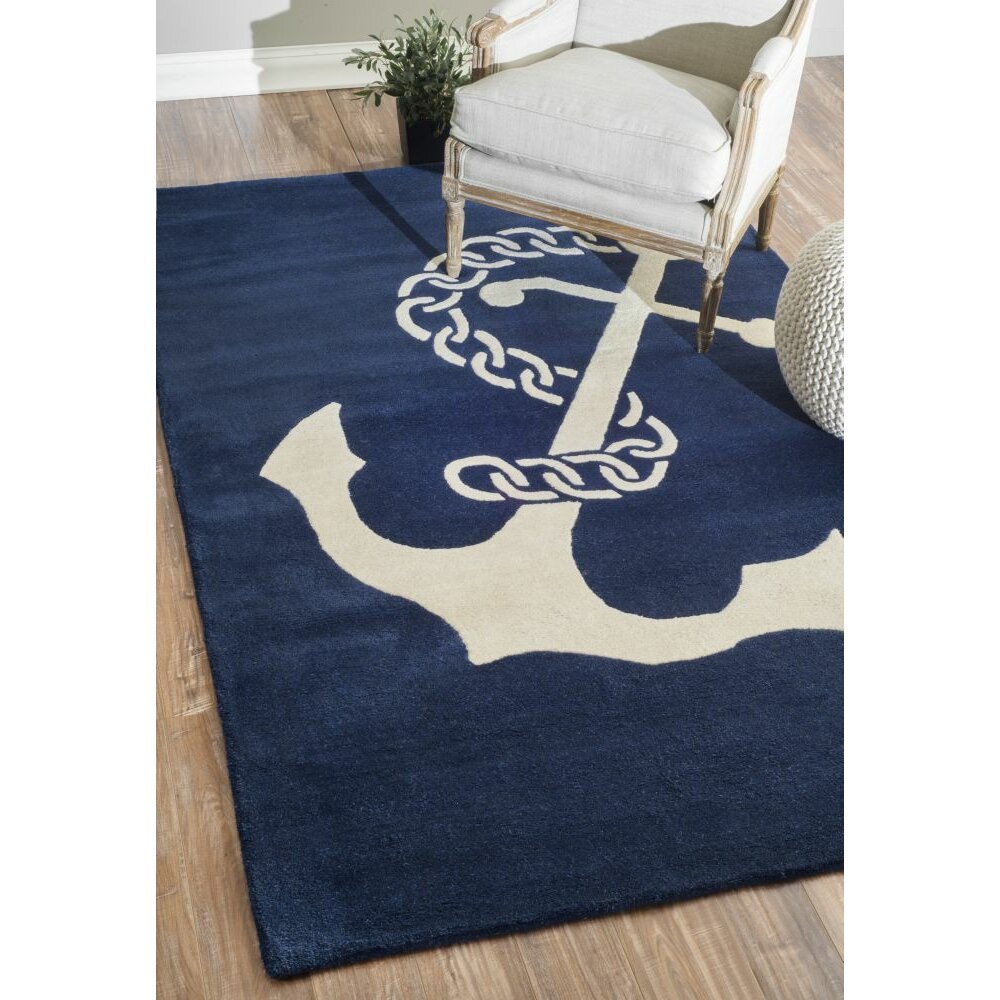 nuloom moderna navy area rug reviews wayfair. Black Bedroom Furniture Sets. Home Design Ideas