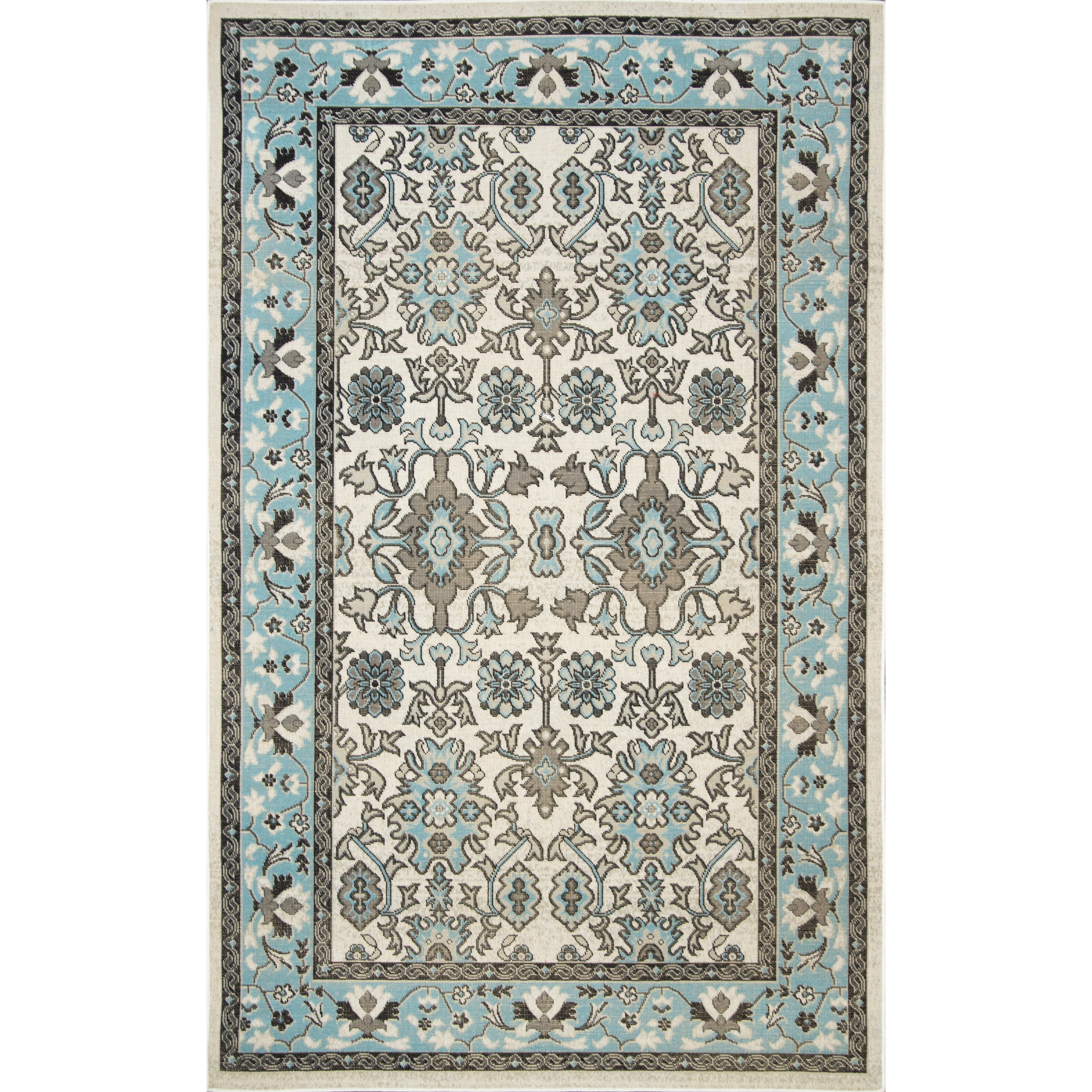 Nuloom pennington light blue indoor outdoor area rug for Blue indoor outdoor rug