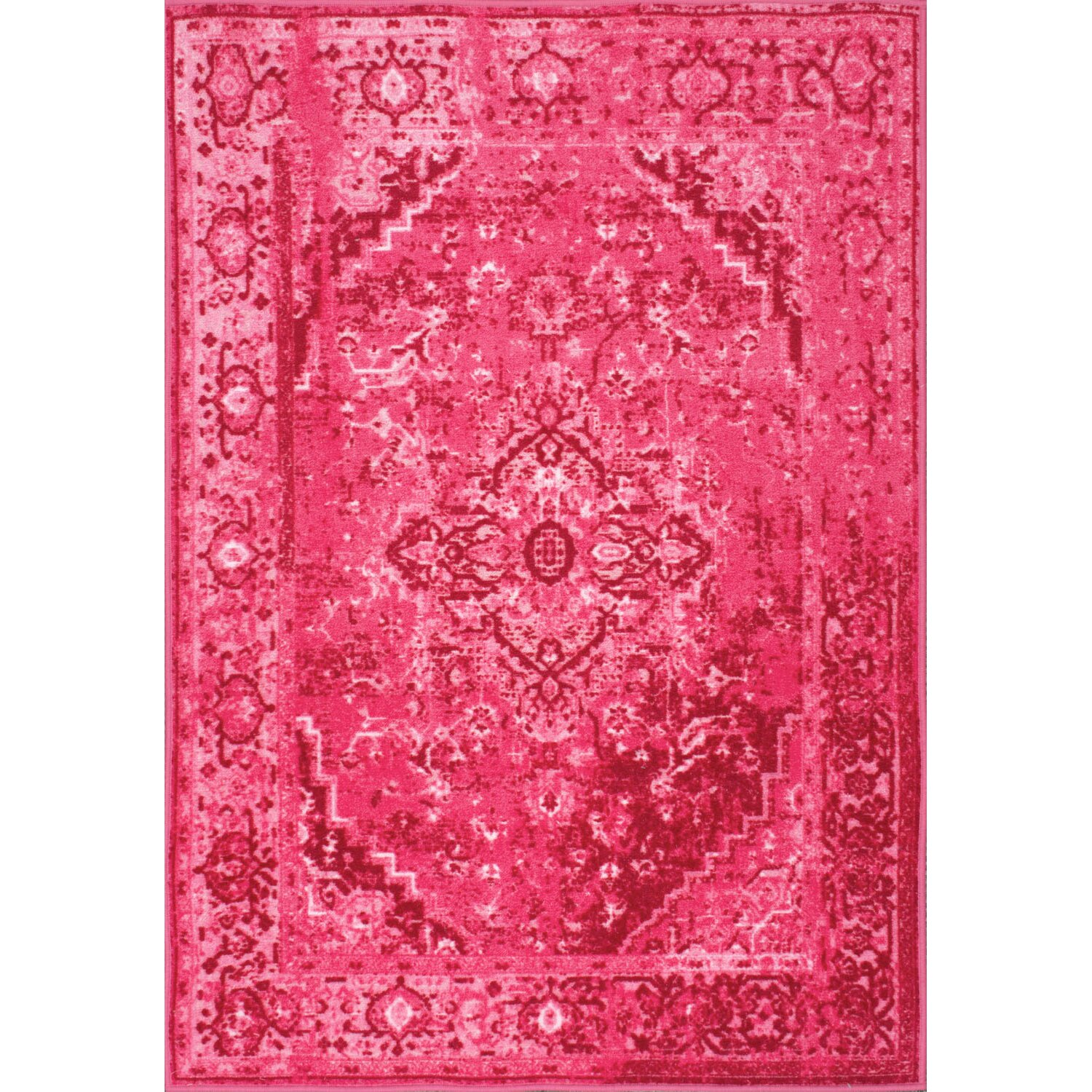 bungalow rose kapadia pink area rug reviews wayfair