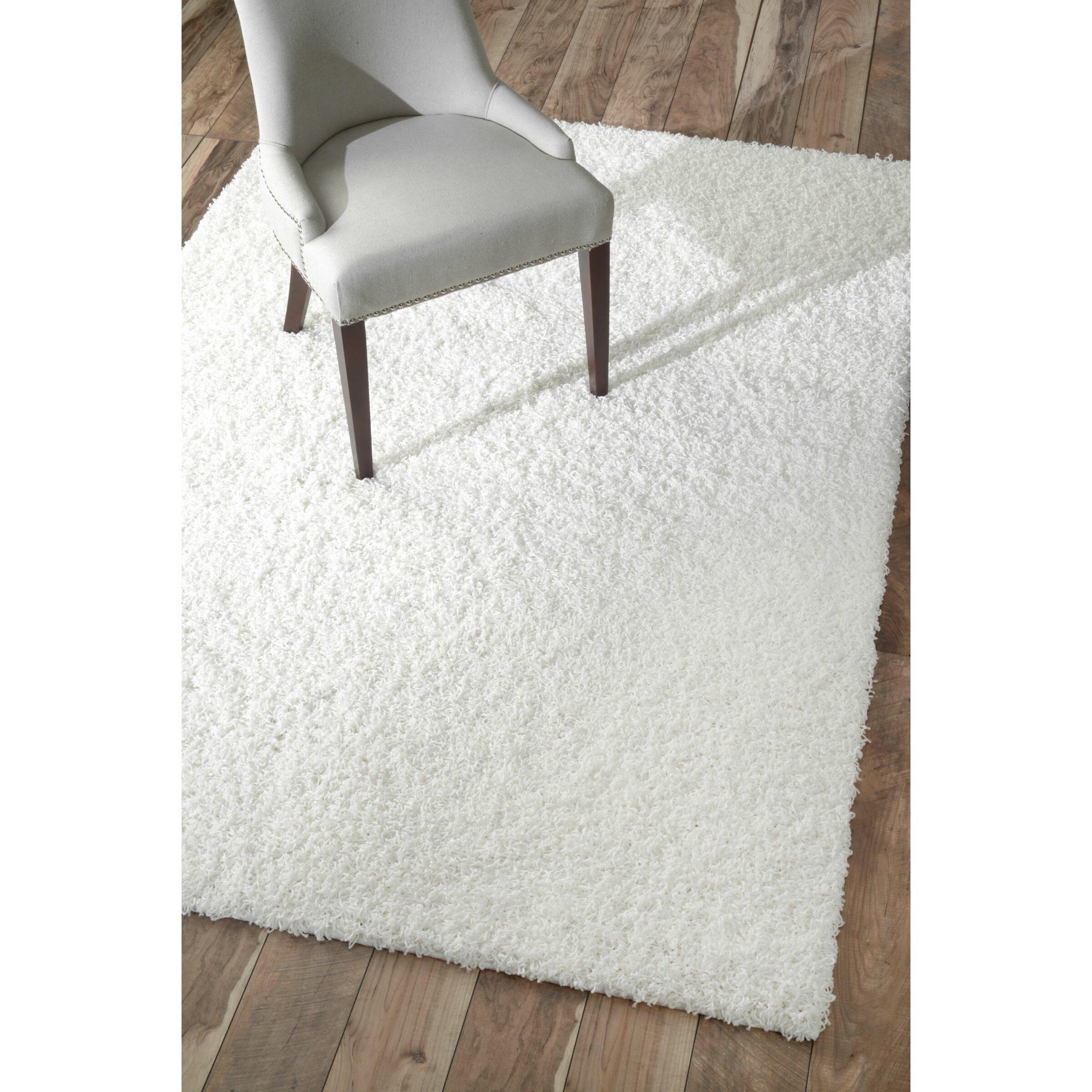 White Carpet Bedroom Rug On Carpet Bedroom Wood Bedroom Design Ideas Modern Bedroom Art: NuLOOM Serano Shag White Area Rug & Reviews