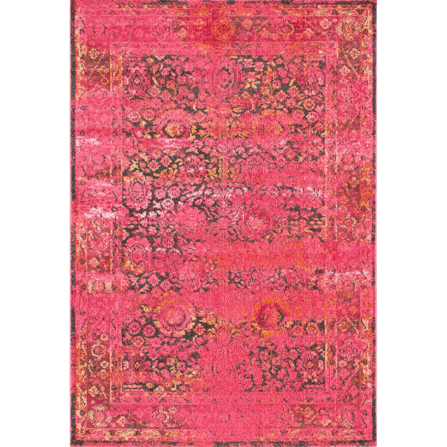 Nuloom Chroma Shuler Cherry Pink Area Rug Reviews Wayfair