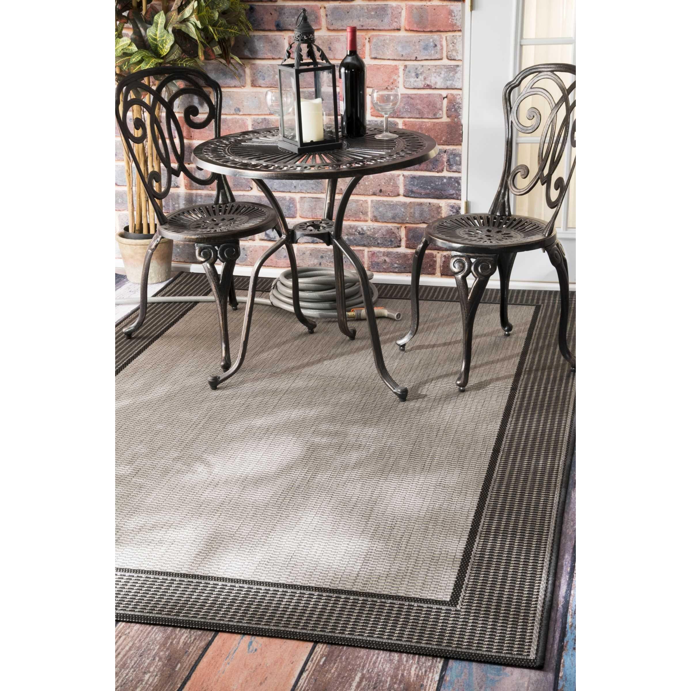 nuloom grey chreine indoor outdoor rug reviews