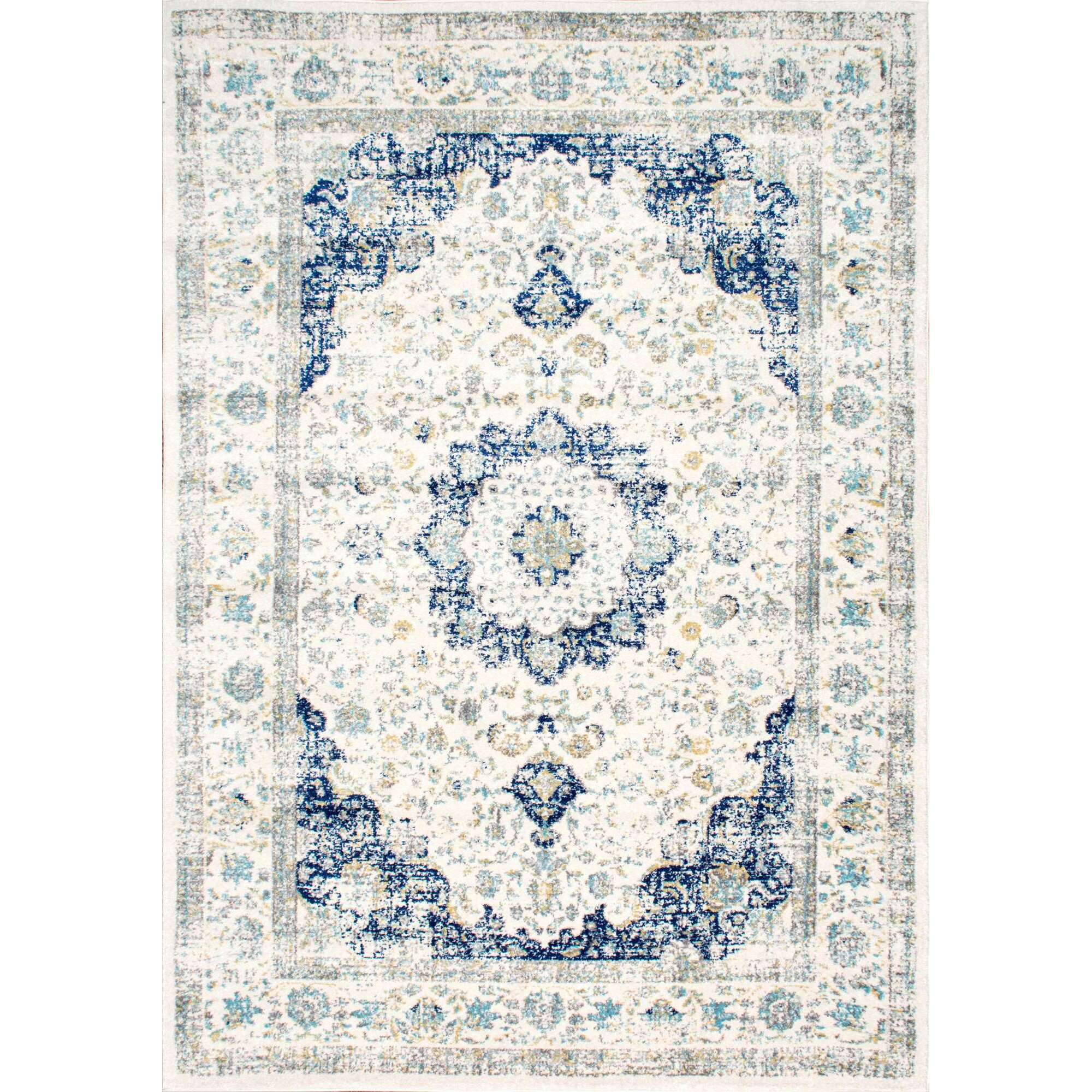 Nuloom verona blue area rug reviews wayfair for Dining room rugs 9x12