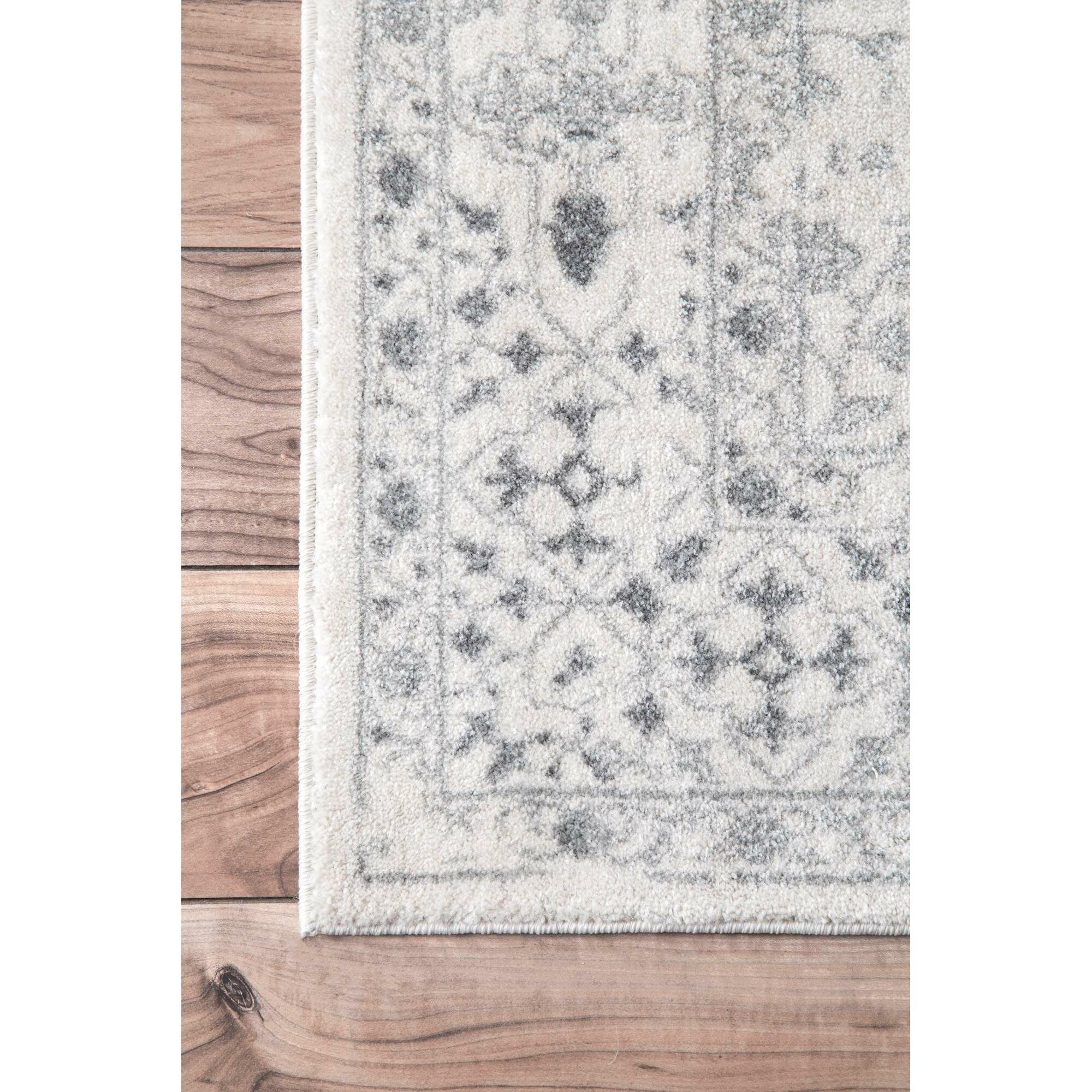 Nuloom Vintage Mabelle Ivory Grey Area Rug Amp Reviews Wayfair
