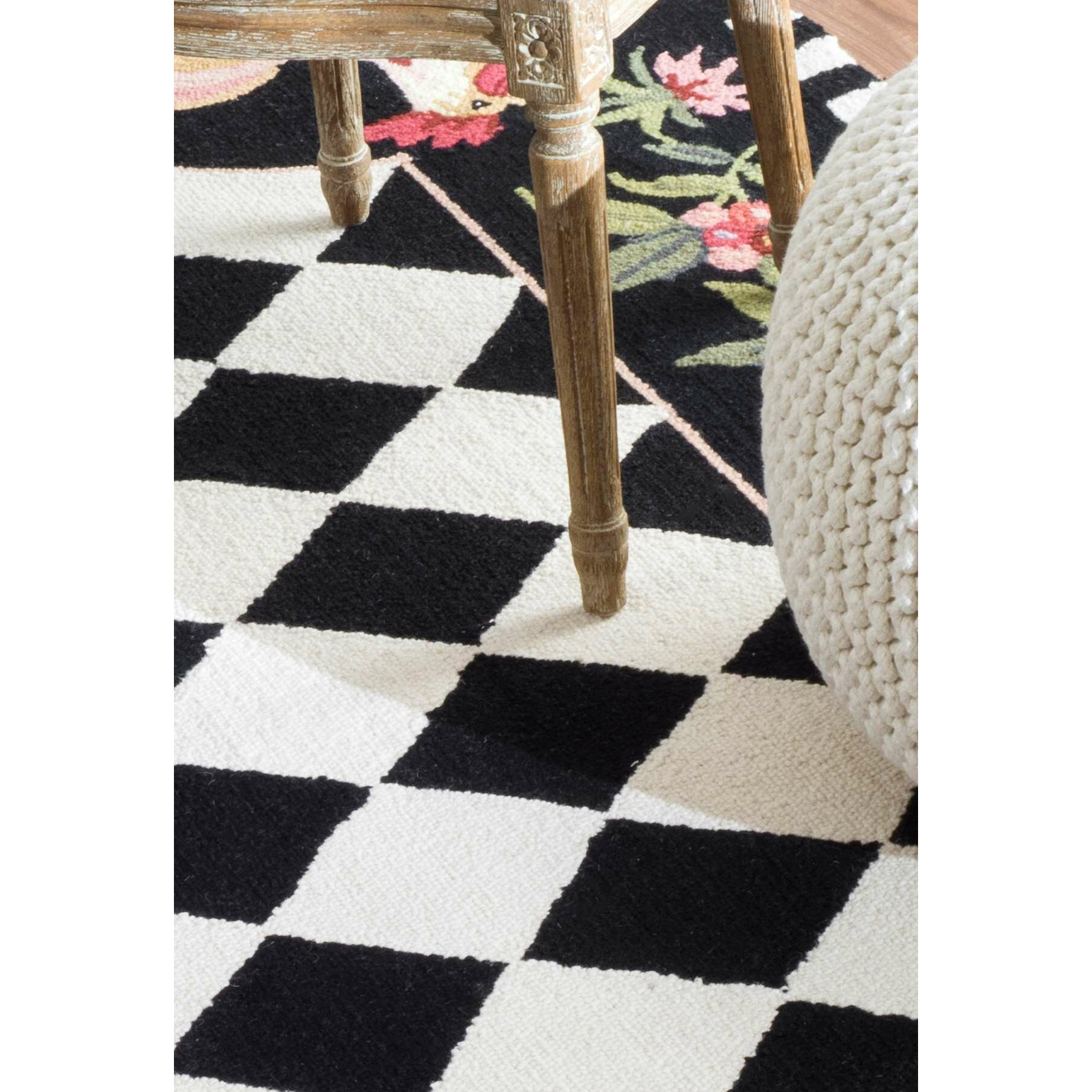 NuLOOM Rooster Black Novelty Area Rug & Reviews
