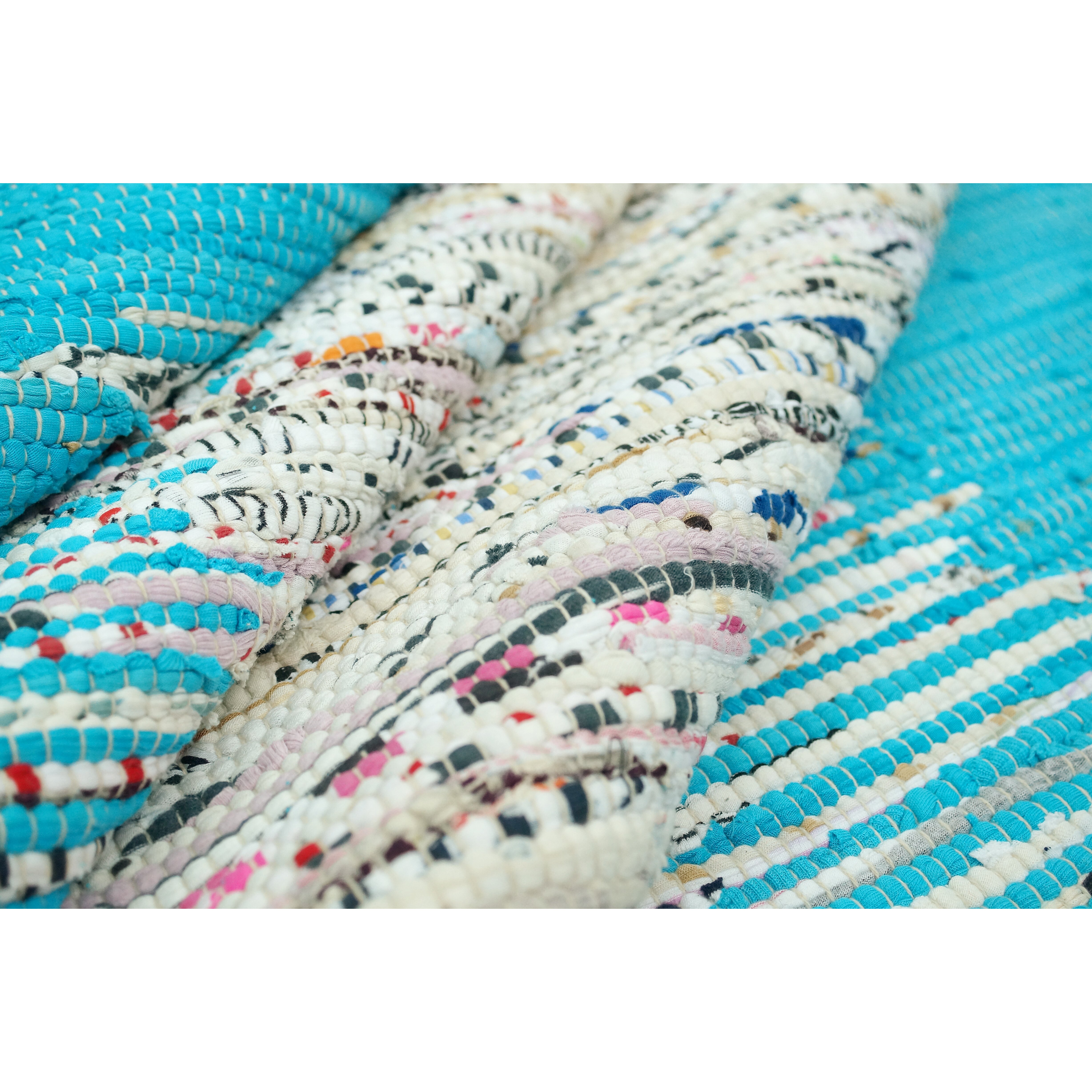 Xl Rag Rug: NuLOOM Munegu Turquoise Talia Rag Area Rug & Reviews
