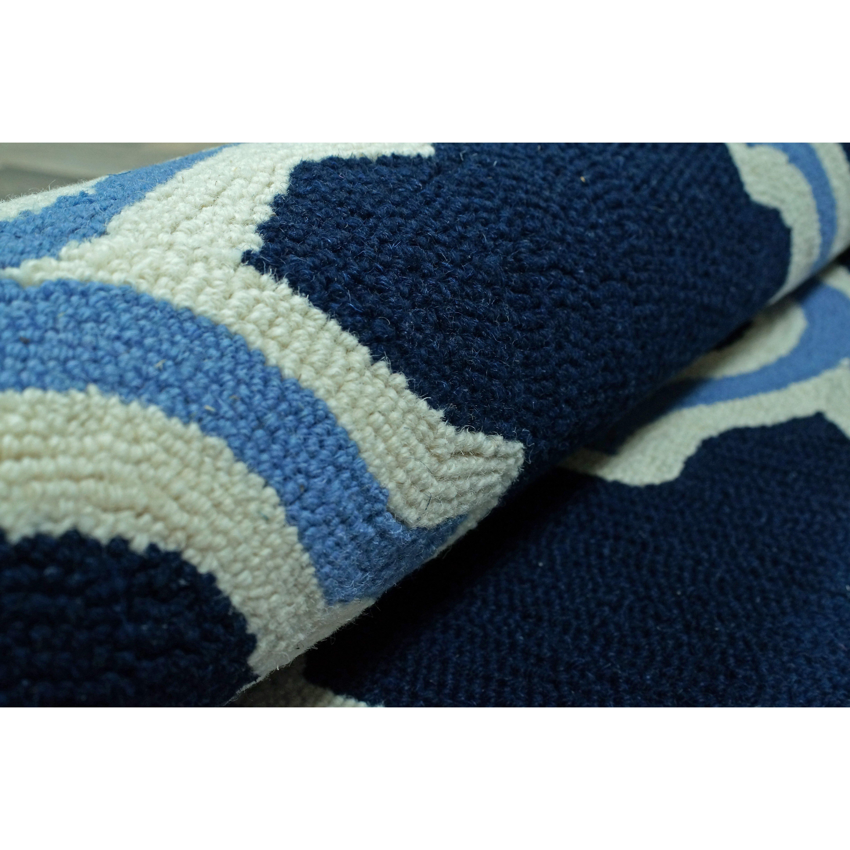 nuloom trellis navy white area rug reviews wayfair. Black Bedroom Furniture Sets. Home Design Ideas