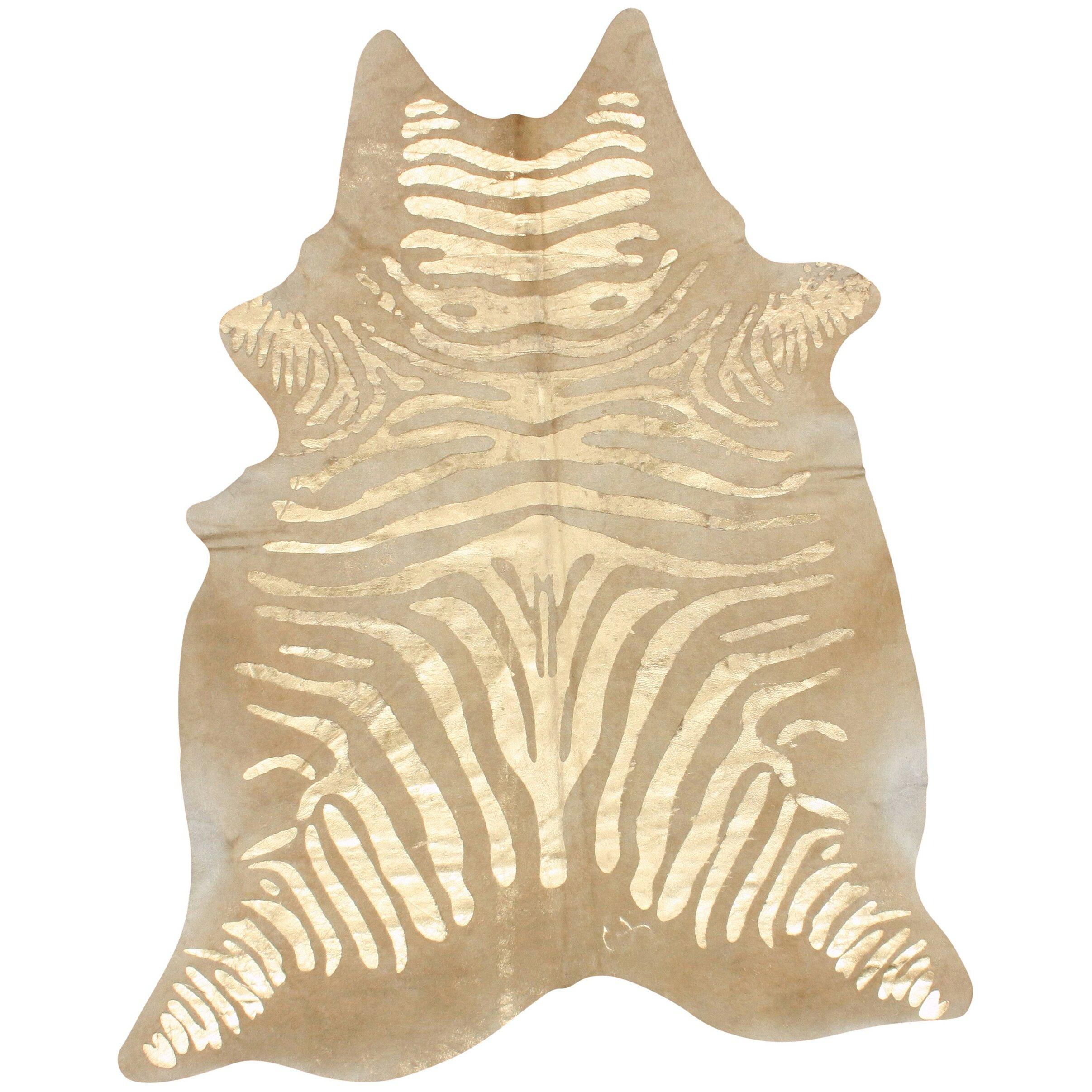 Zebra Rug Wayfair: NuLOOM Natura Zebra Cowhide Natural/Brown Area Rug