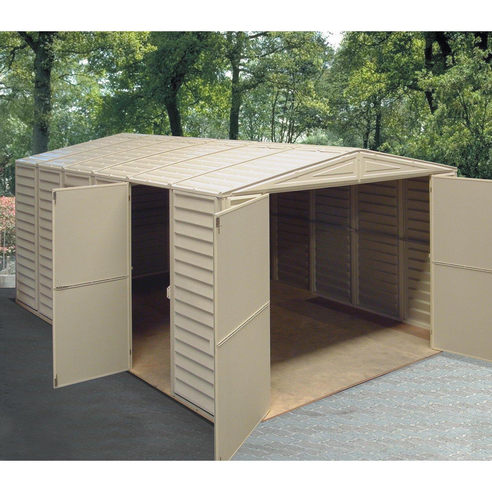 Vinyl Sheds Product : Duramax vinyl garage shed reviews wayfair