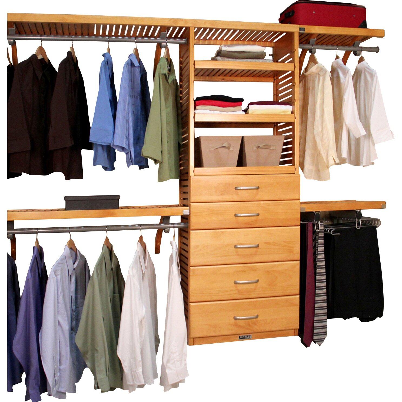 louis home 120 quot wide closet system reviews wayfair