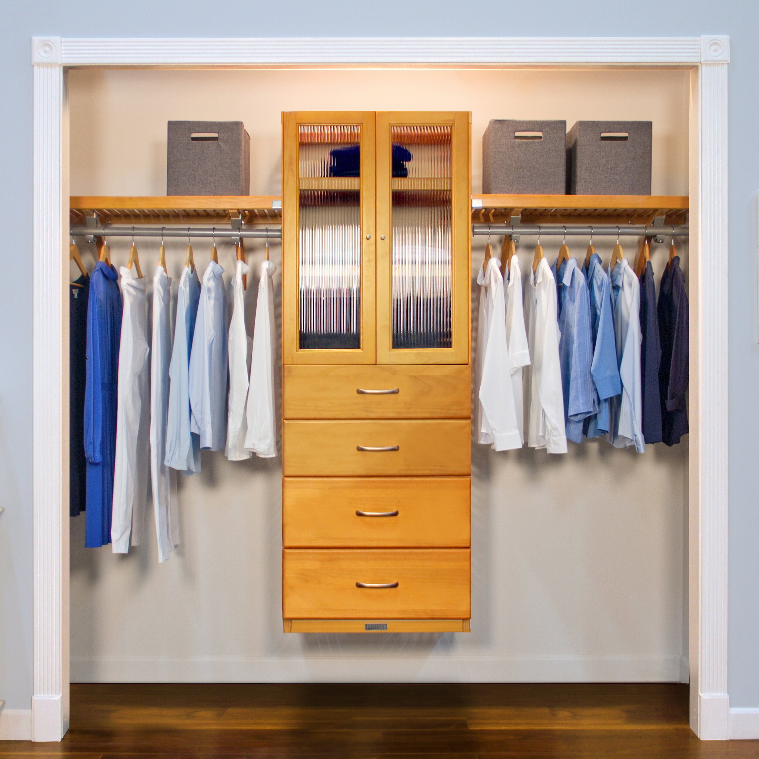 John louis home 120 w closet system reviews wayfair for One day doors and closets reviews