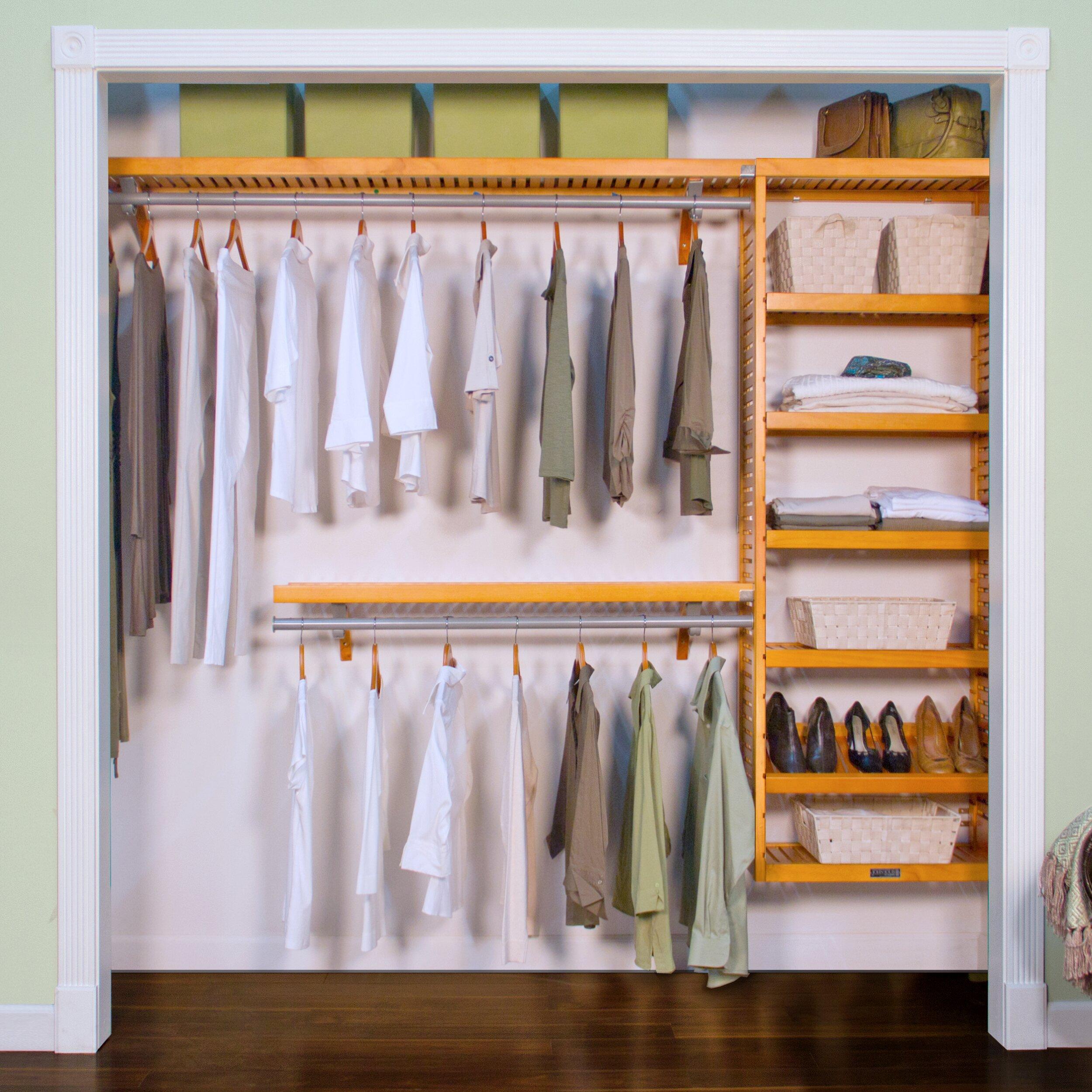 louis home 120 quot w closet system reviews wayfair supply