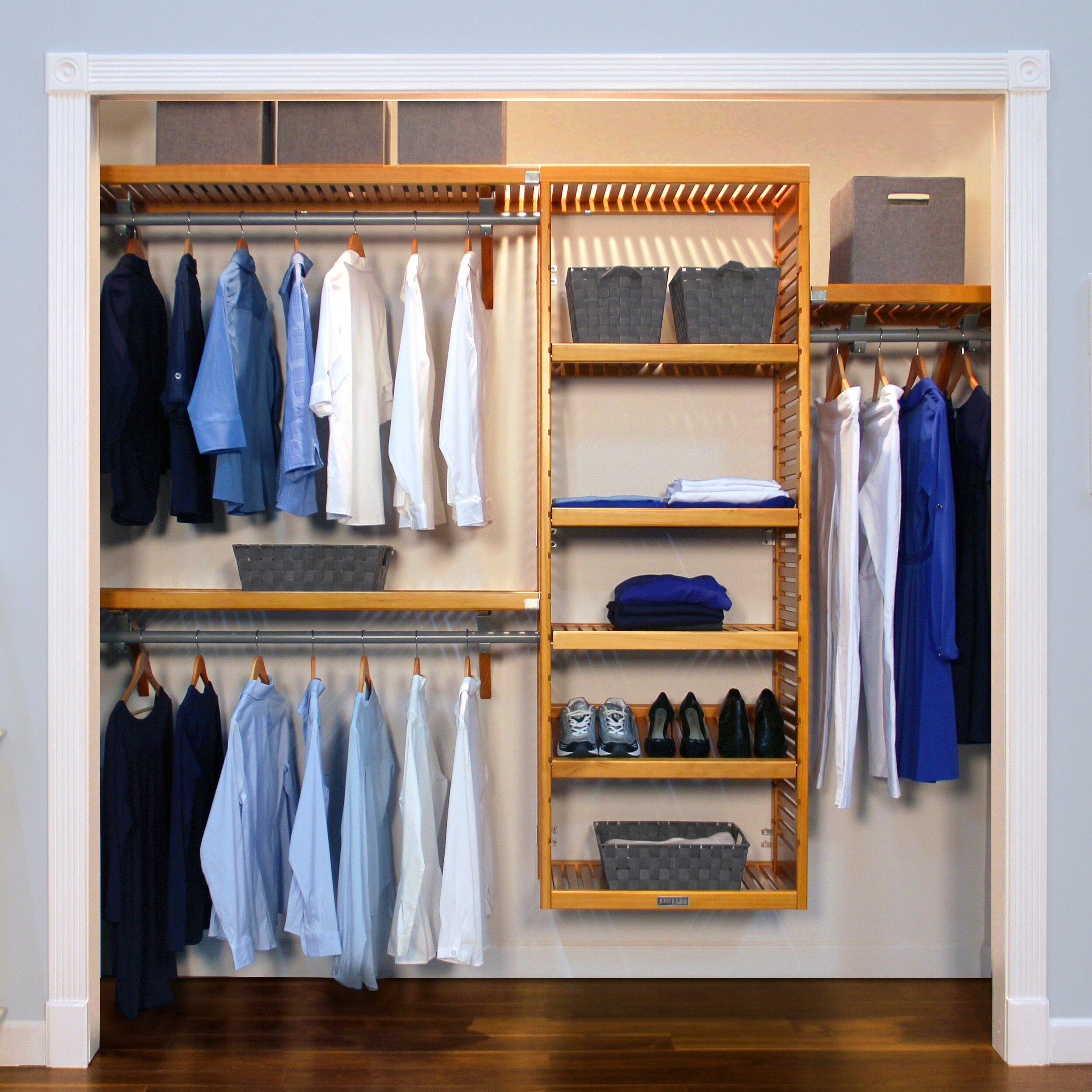 louis home 120 quot w closet system reviews wayfair