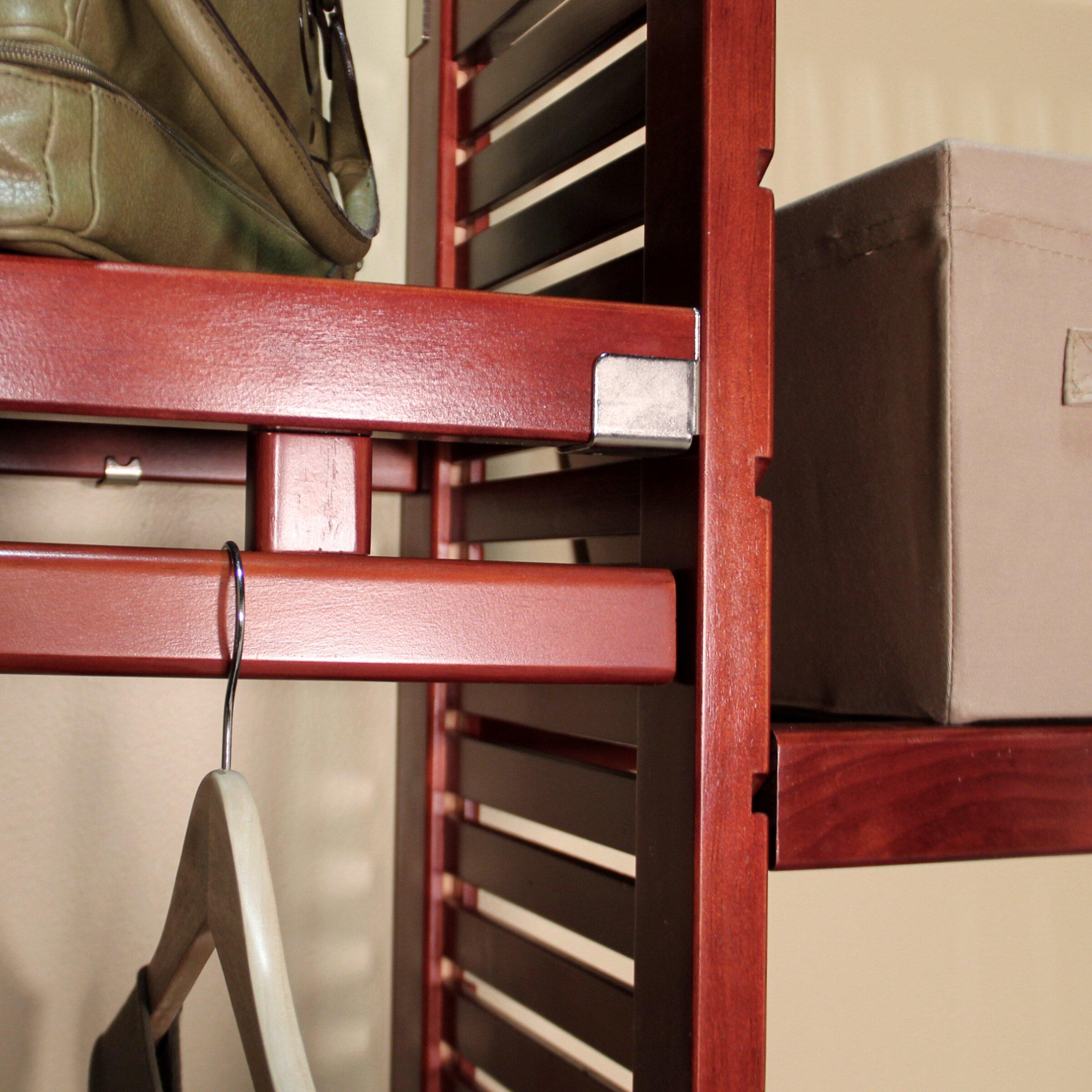 louis home louis home 96 quot wide closet system