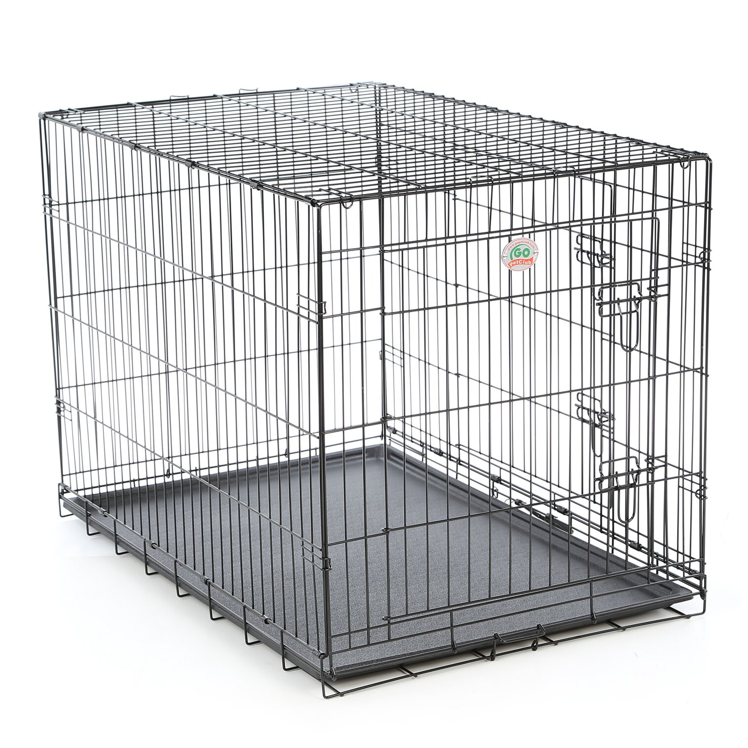Go Pet Club Folding Wire Dog Crate With Divider