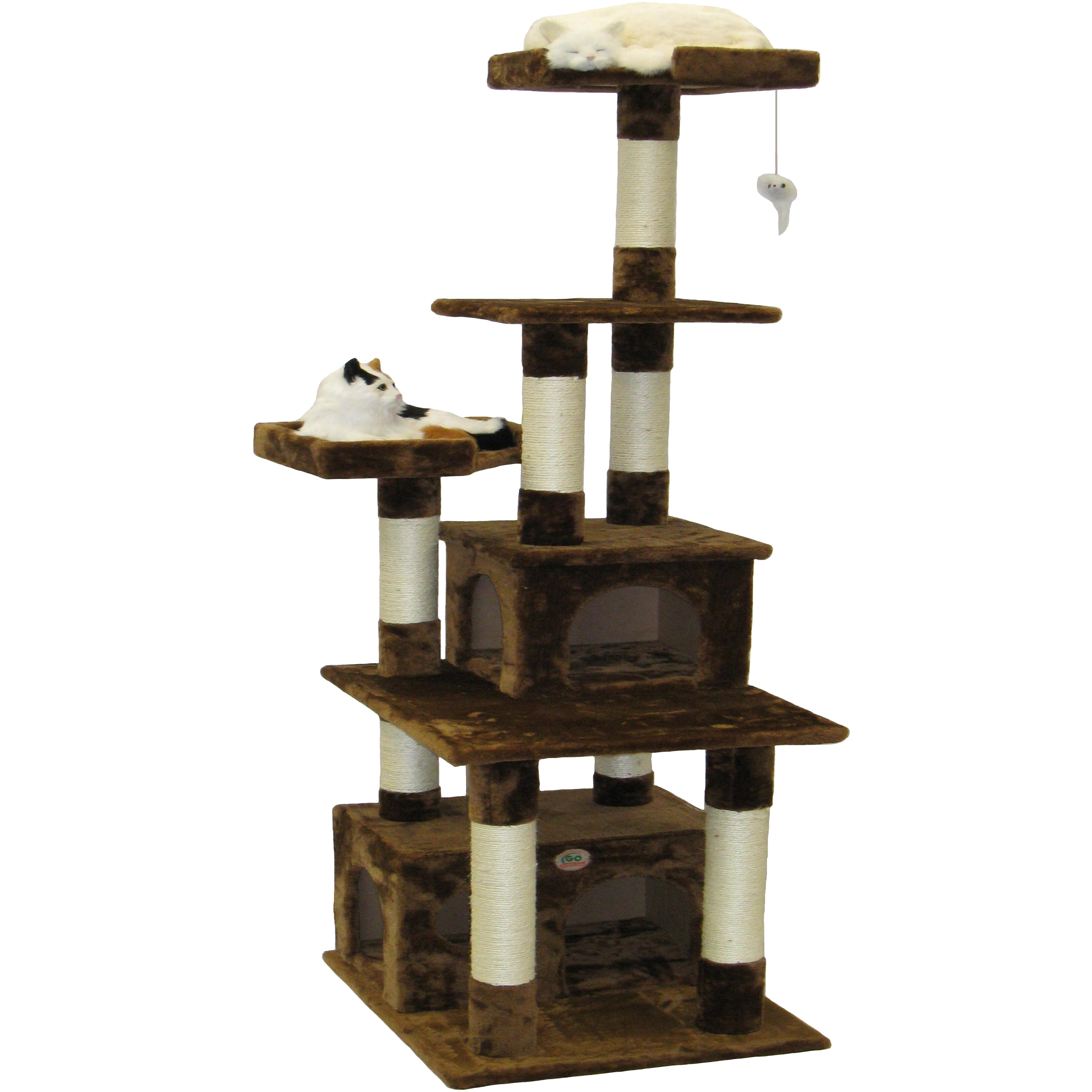 Go pet club 67 condo house cat tree reviews wayfair Christmas tree cat tower