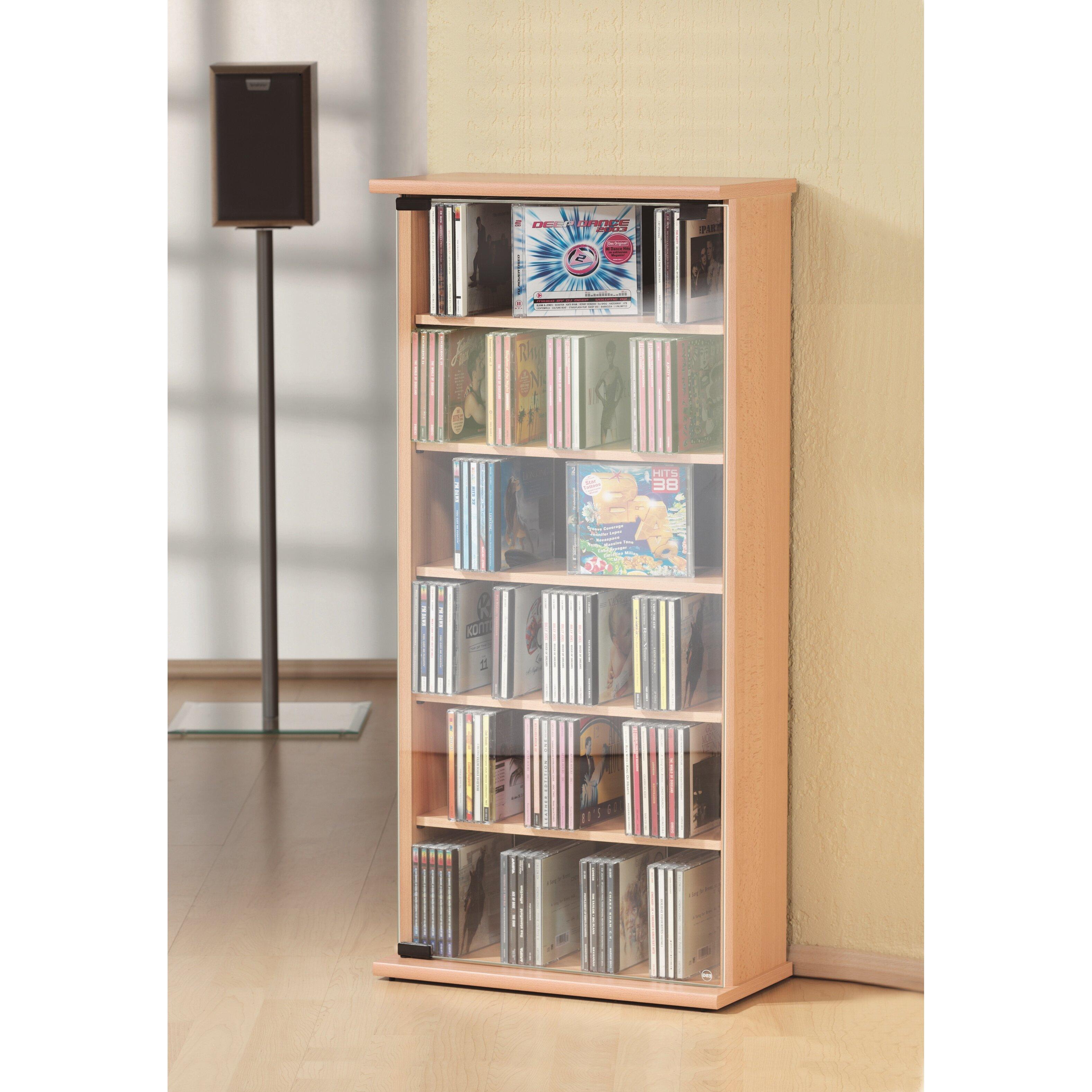 vcm vetro cd and dvd shelf reviews wayfair uk. Black Bedroom Furniture Sets. Home Design Ideas