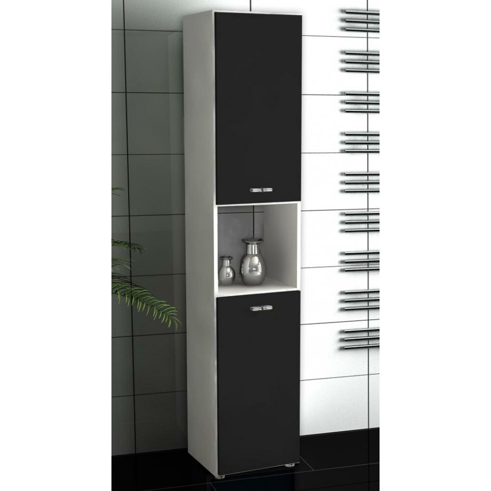 vcm bones 5 31 x 160cm free standing tall bathroom cabinet. Black Bedroom Furniture Sets. Home Design Ideas