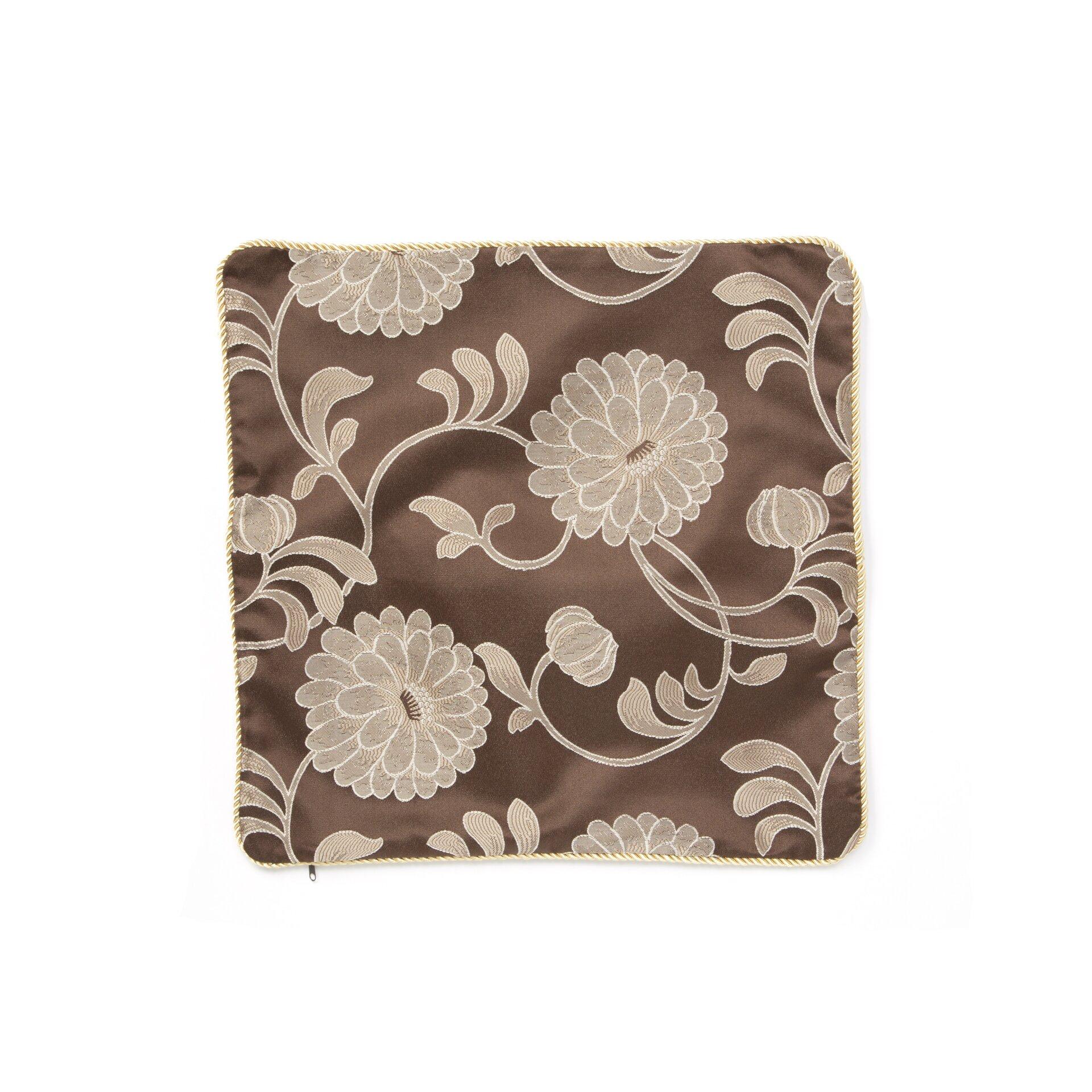 Violet Linen Legacy Damask Design Decorative Pillow Cover & Reviews Wayfair