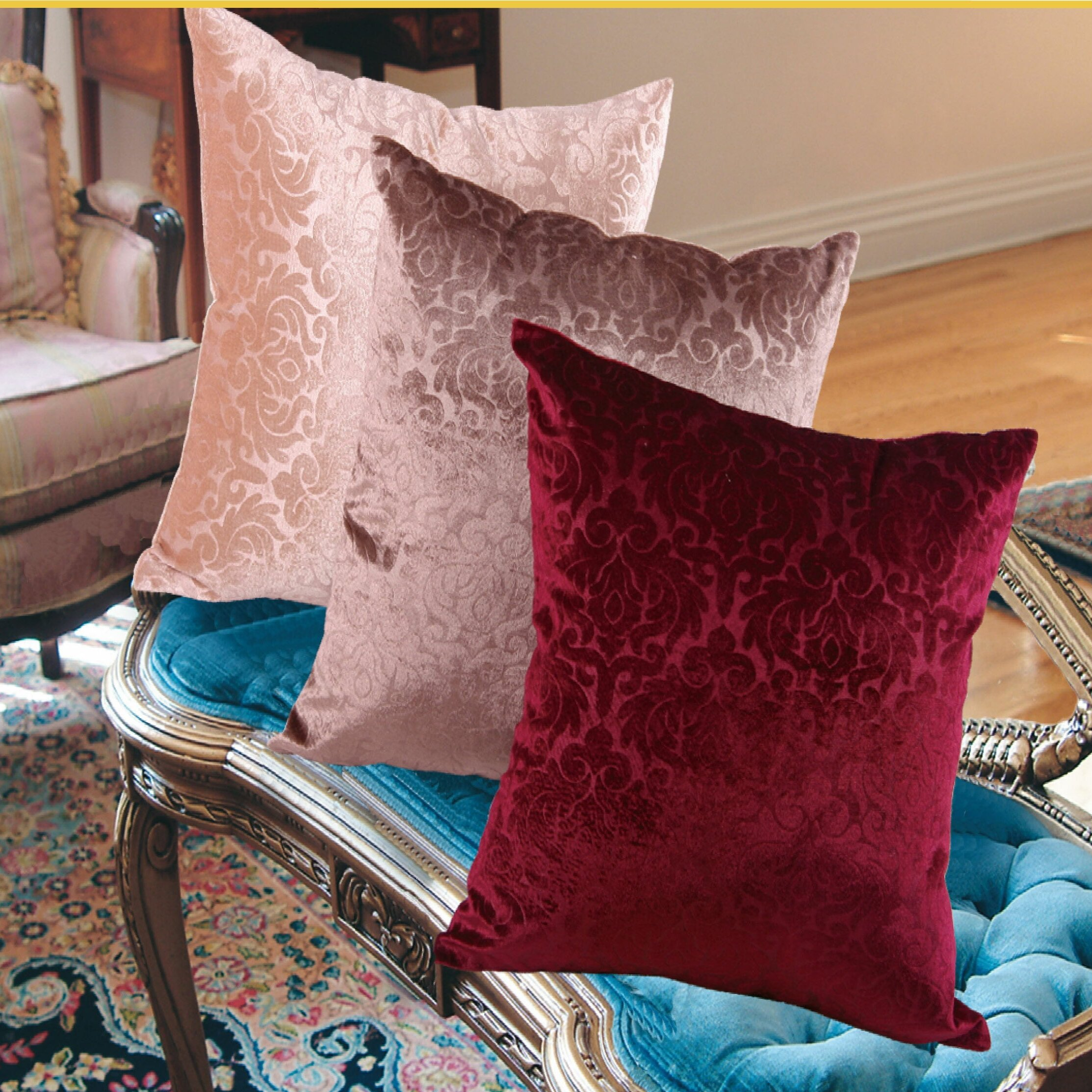 Wayfair Decorative Pillow Covers : Violet Linen Velvet Vintage Damask Decorative Pillow Cover & Reviews Wayfair.ca