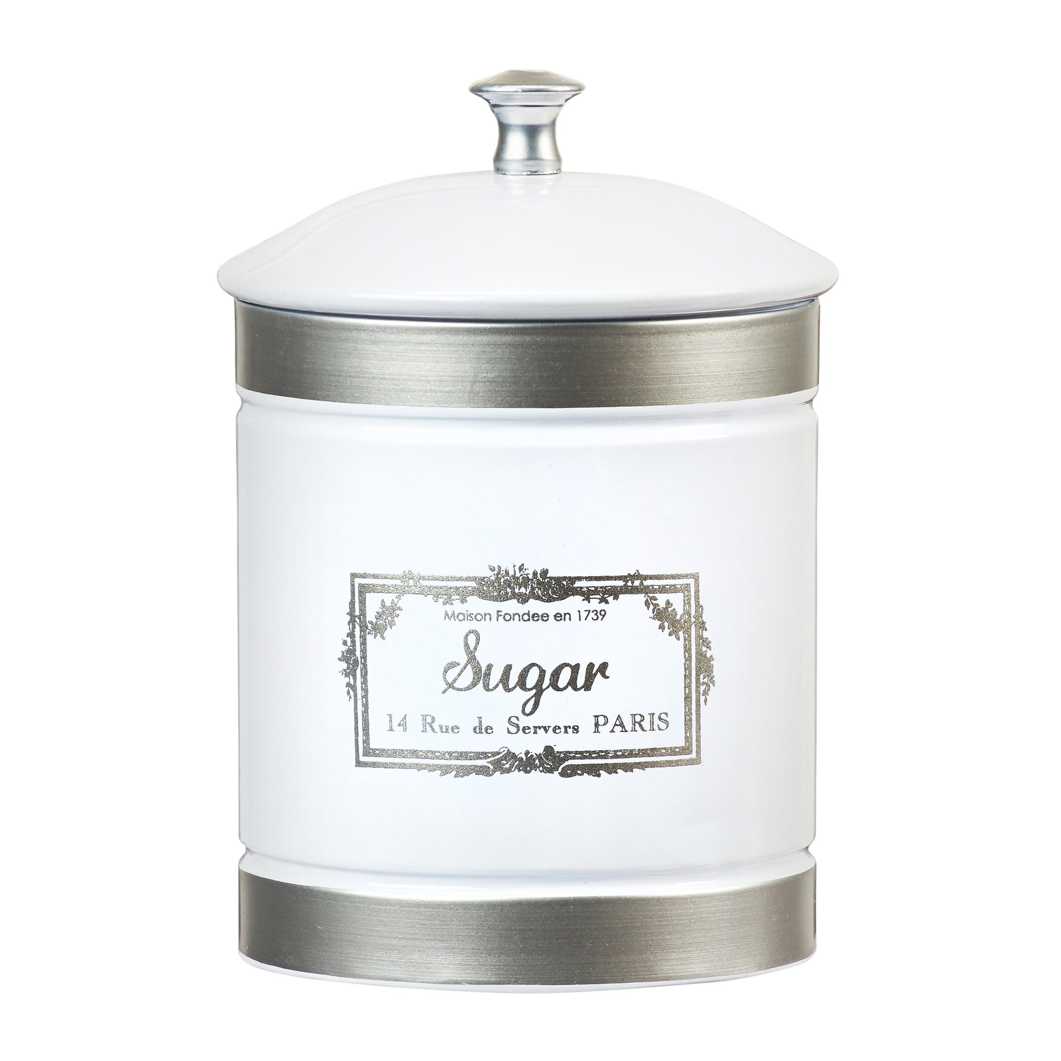 Farmhouse Kitchen Canister Sets: Global Amici Country Farmhouse 3 Piece Metal Canister Set