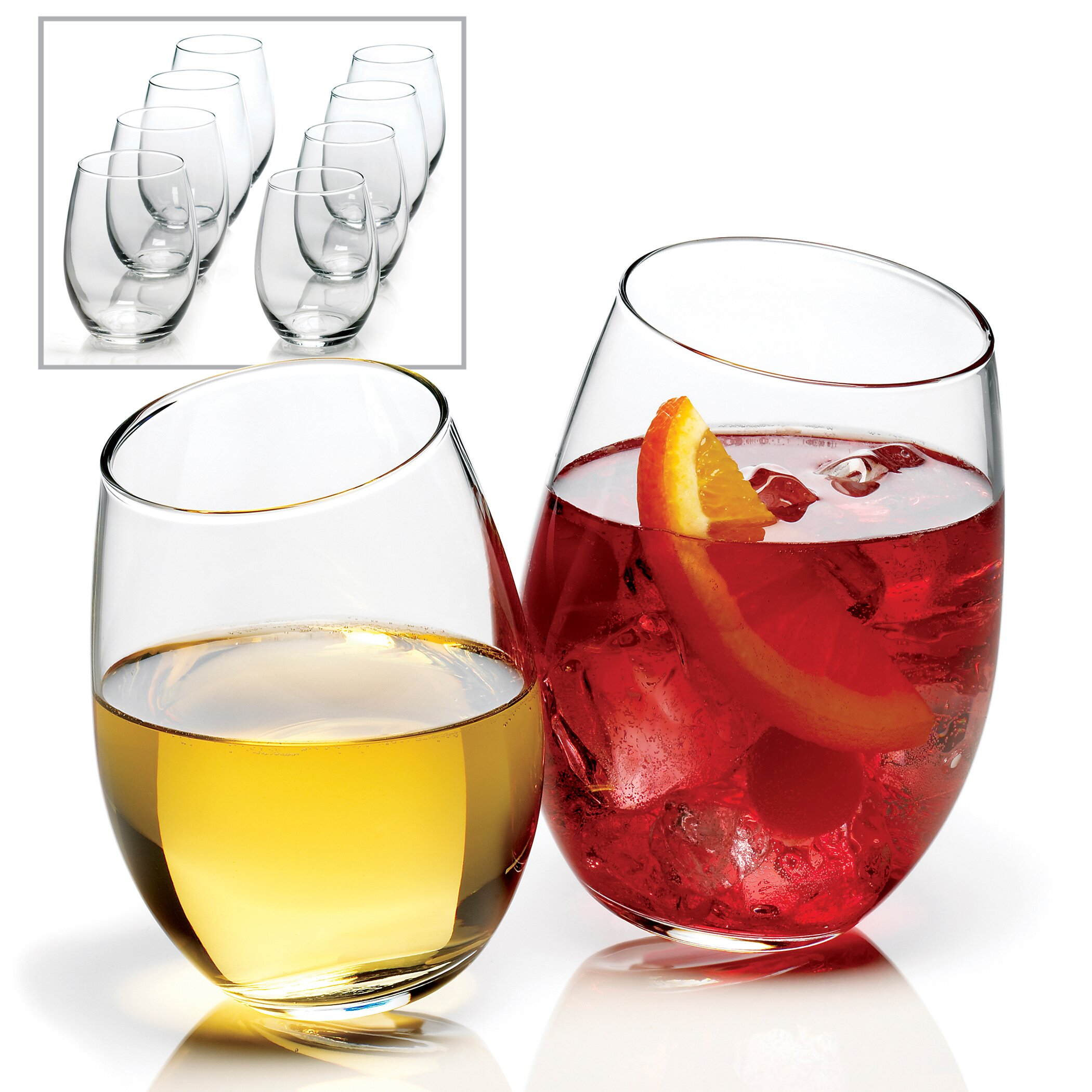 Anchor hocking 15 oz stemless wine glass reviews wayfair - Stemless wine goblets ...