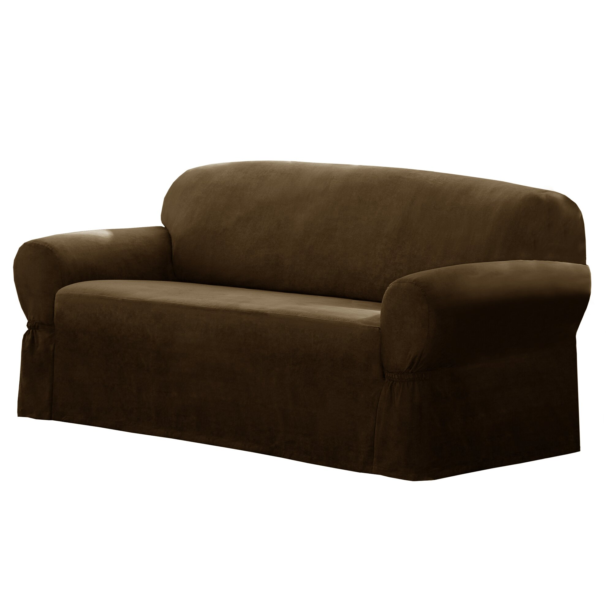 Slipcover Sofa Set: Maytex T-Cushion Loveseat/Sofa Slipcover & Reviews