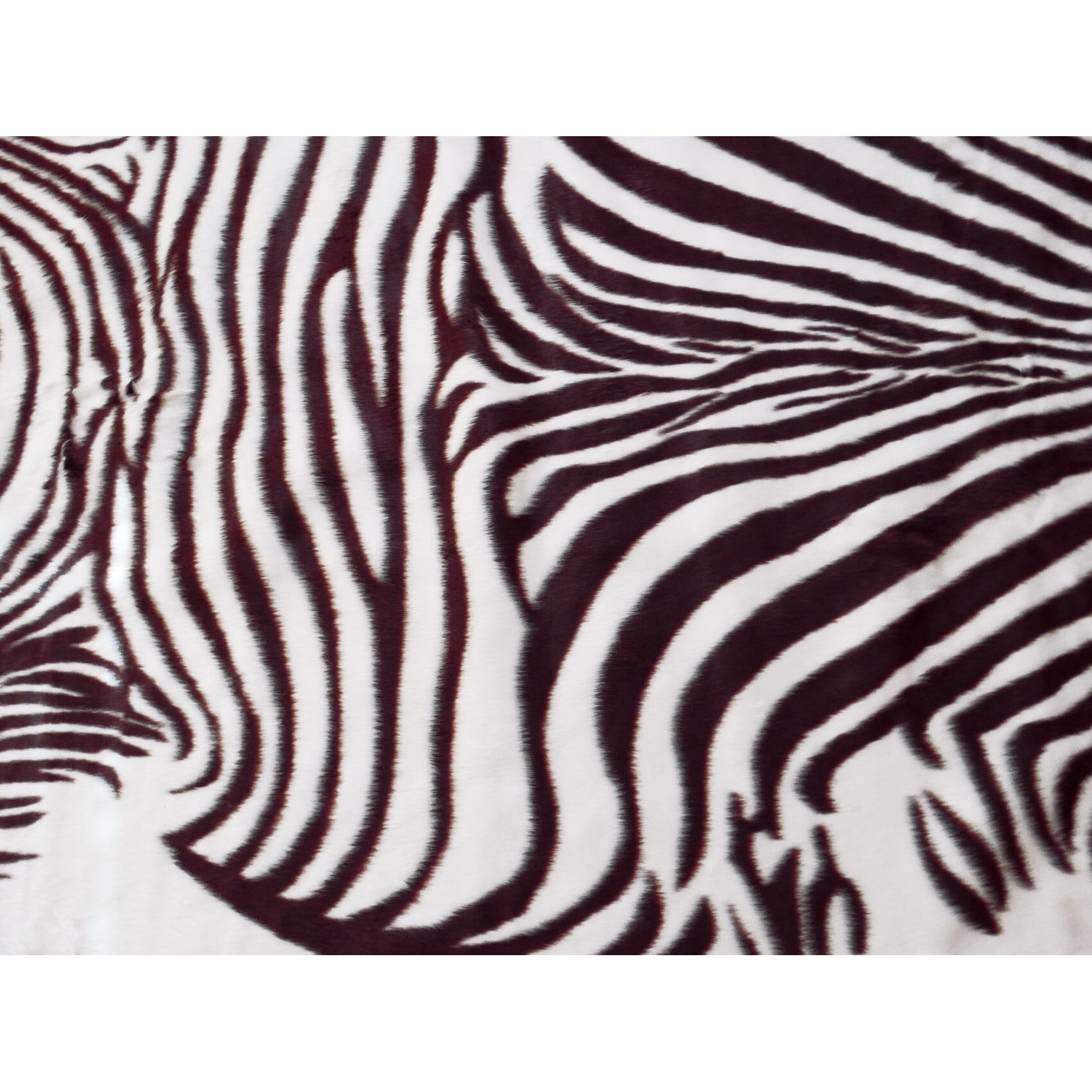 Acura rugs animal hide brown white zebra area rug for Zebra rug ikea