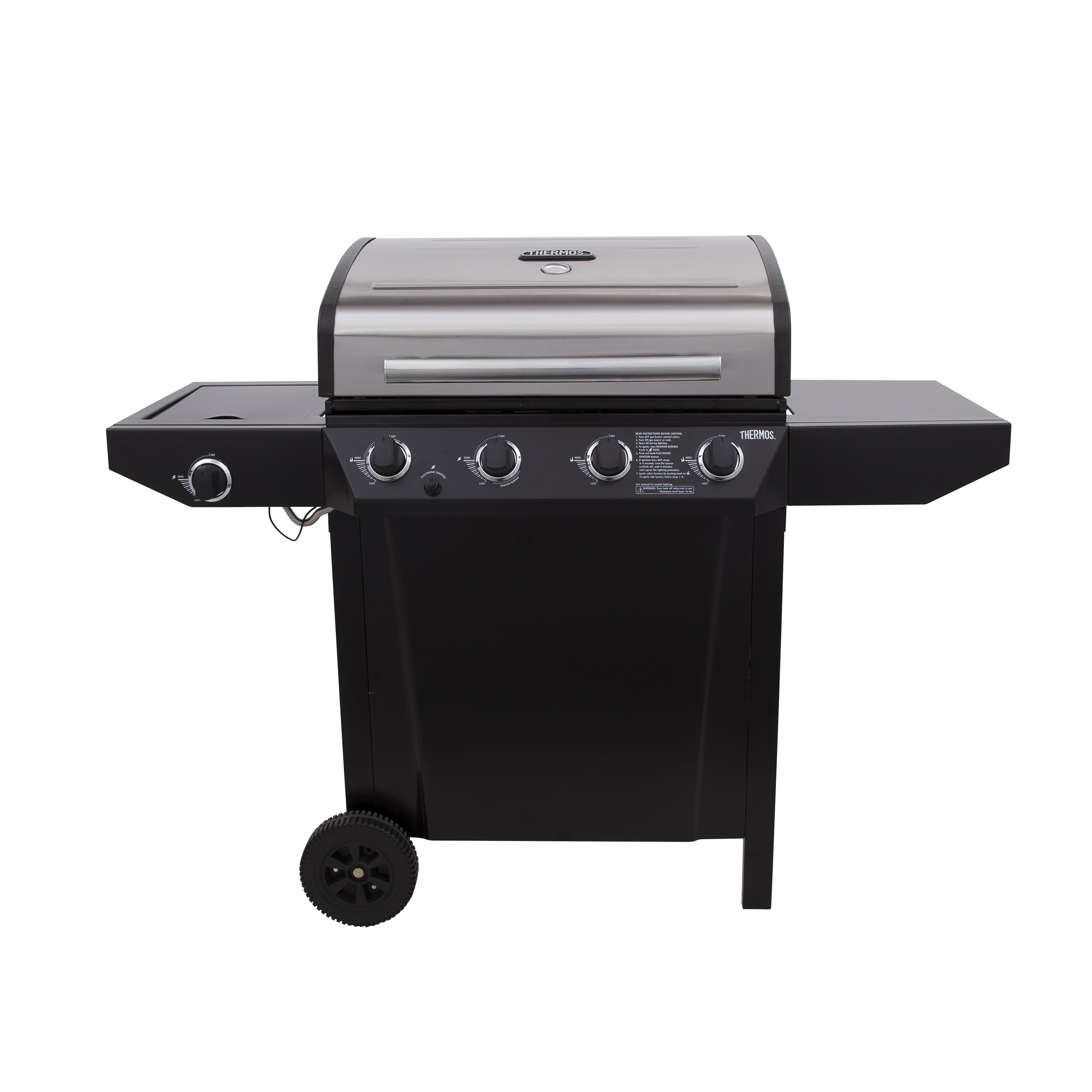 charbroil thermos 4 burner free standing liquid propane gas grill reviews wayfair. Black Bedroom Furniture Sets. Home Design Ideas
