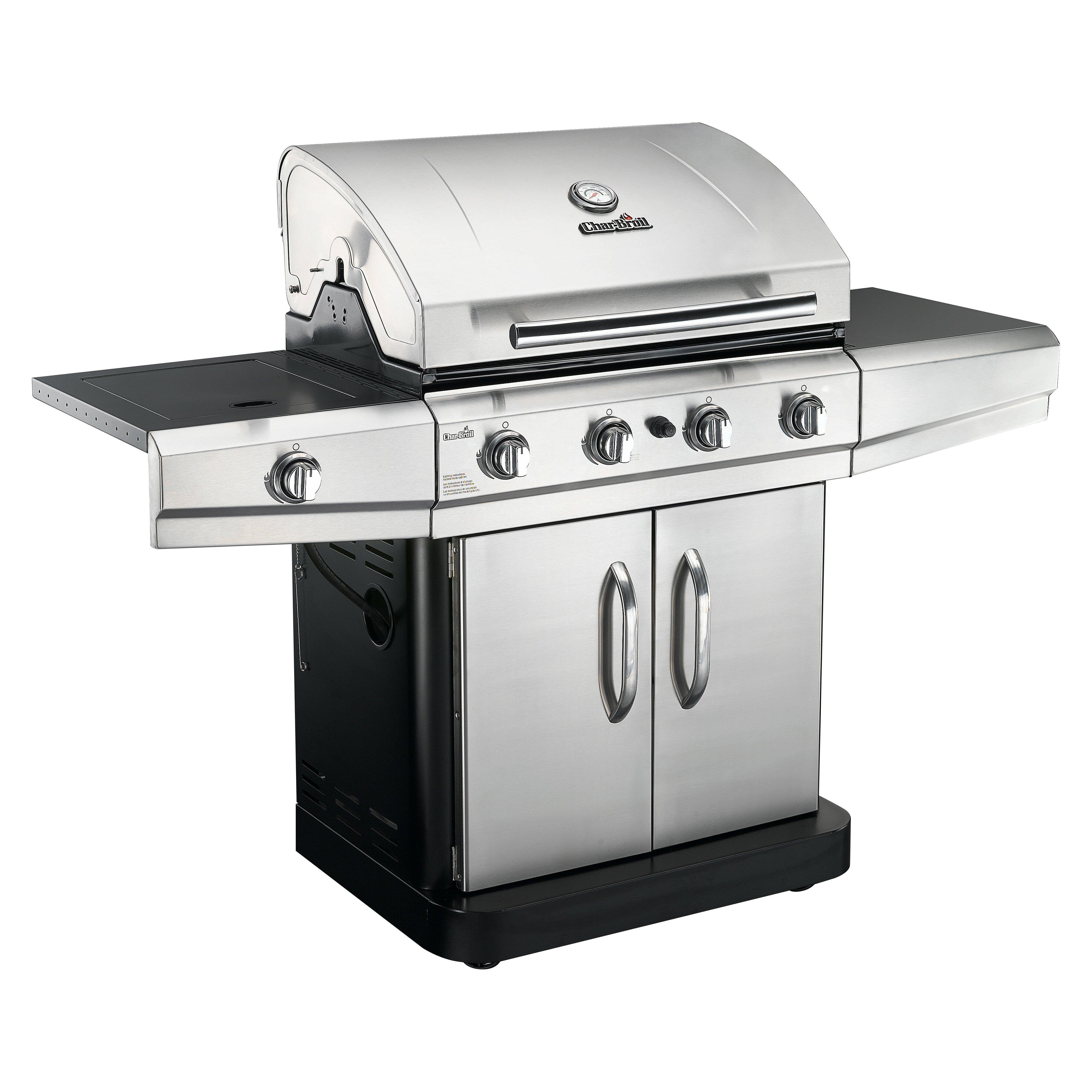 charbroil classic 4 burner gas grill with side burner reviews wayfair. Black Bedroom Furniture Sets. Home Design Ideas