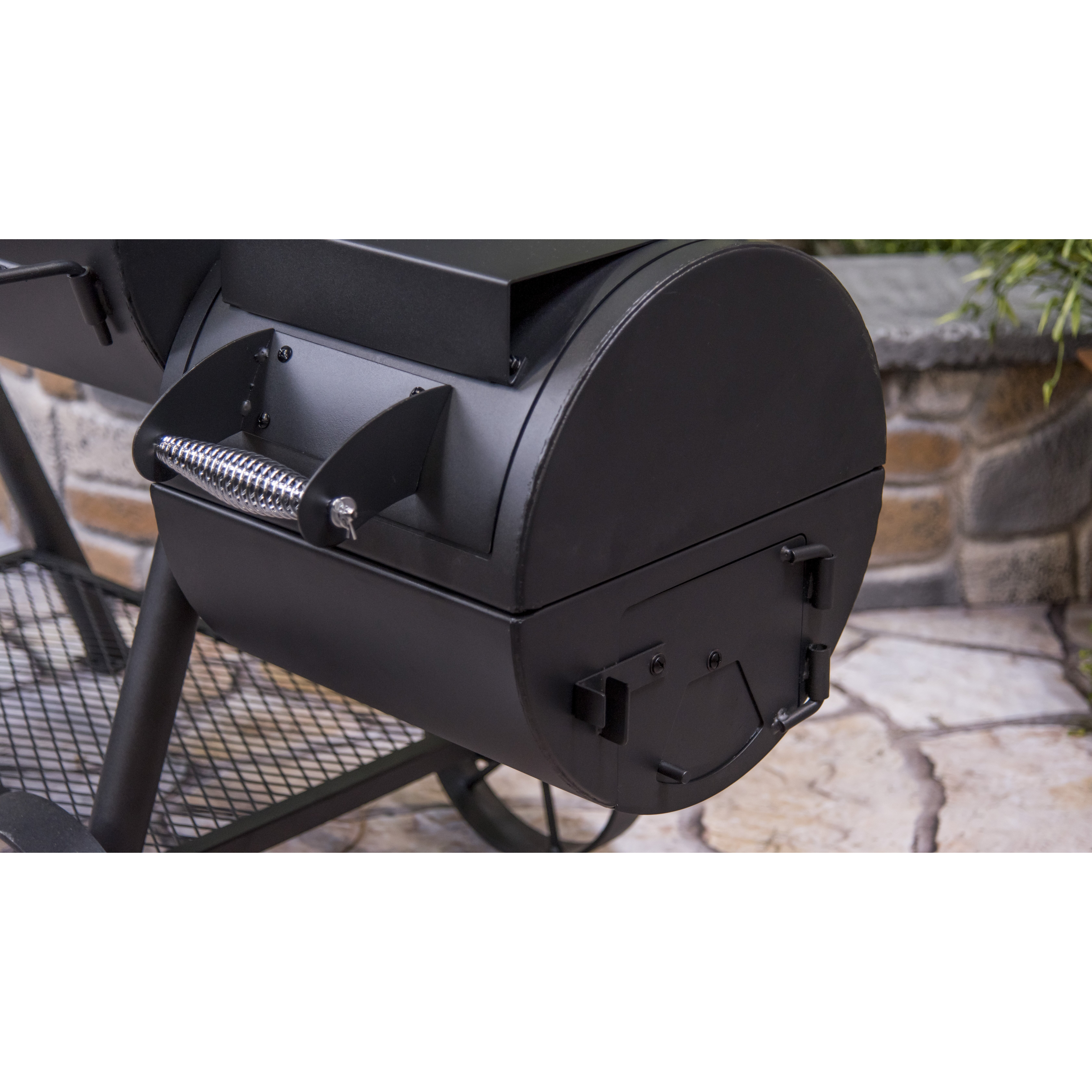 charbroil oklahoma joe 39 s highland offset charcoal smoker and grill reviews wayfair. Black Bedroom Furniture Sets. Home Design Ideas