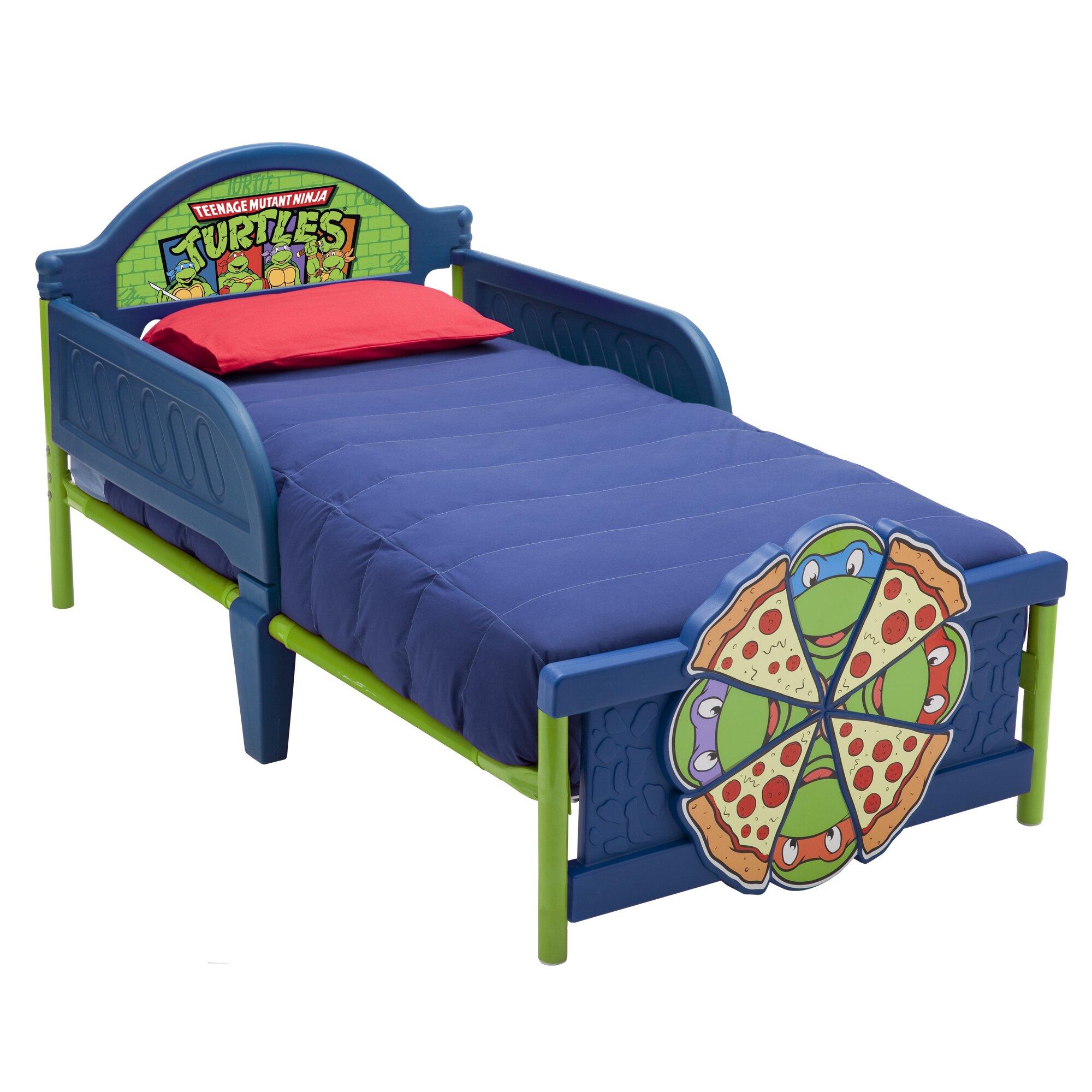 Tinkerbell Bedroom Furniture Delta Children Ninja Turtles Convertible Toddler Bed