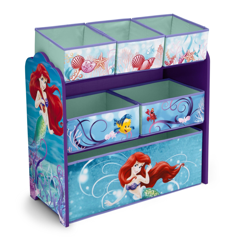 delta children little mermaid multi bin toy organizer. Black Bedroom Furniture Sets. Home Design Ideas