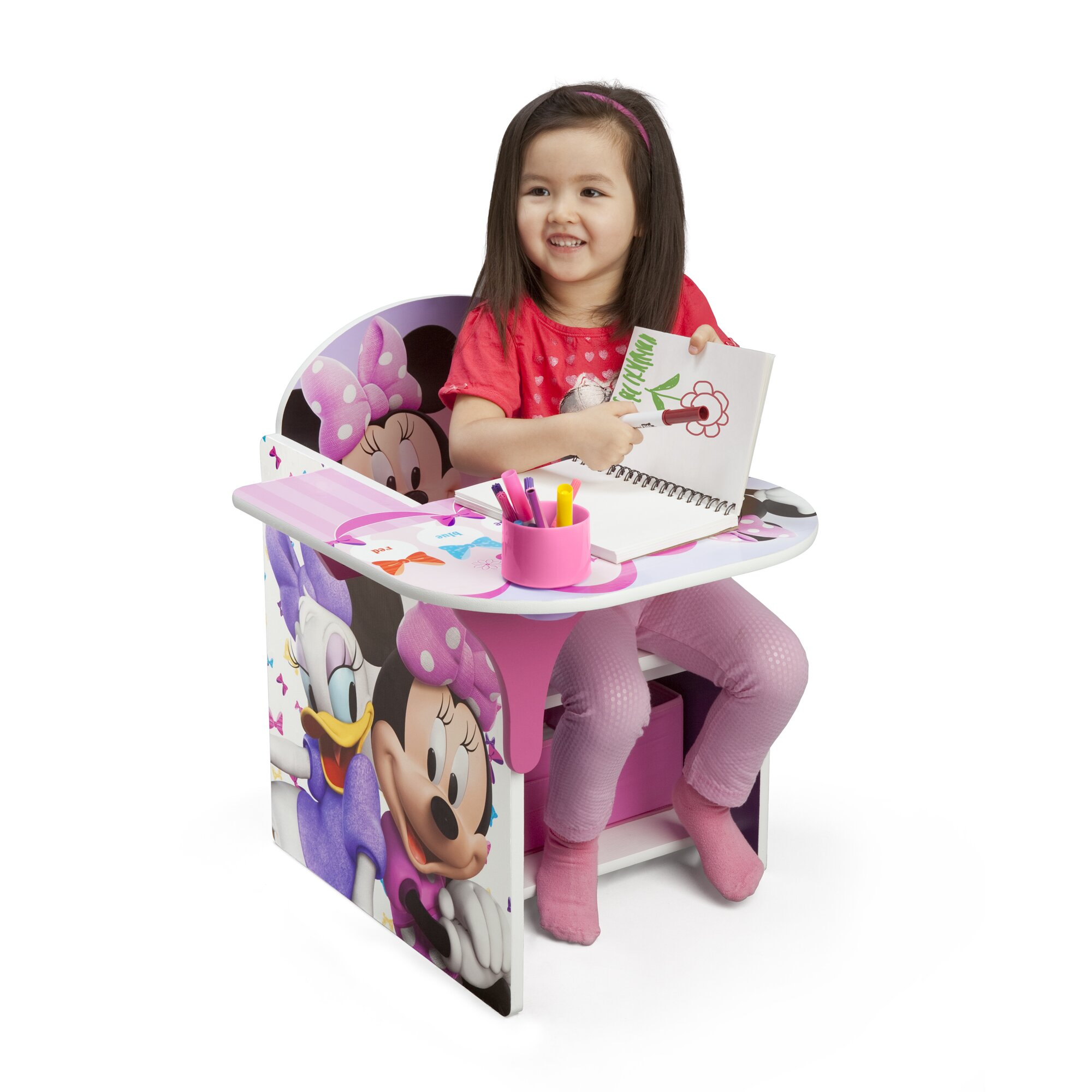 Delta children minnie kids desk chair with storage for Best desk chair for kids