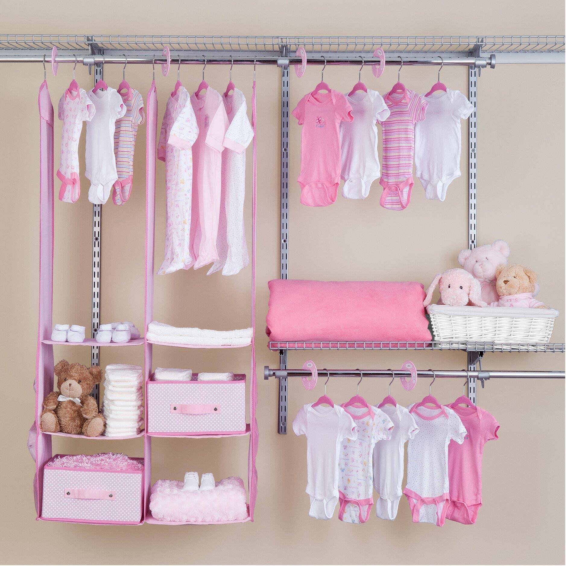 Baby Nursery Decorating Checklist: Delta Children Deep Nursery Closet Organizer 24 Piece Set