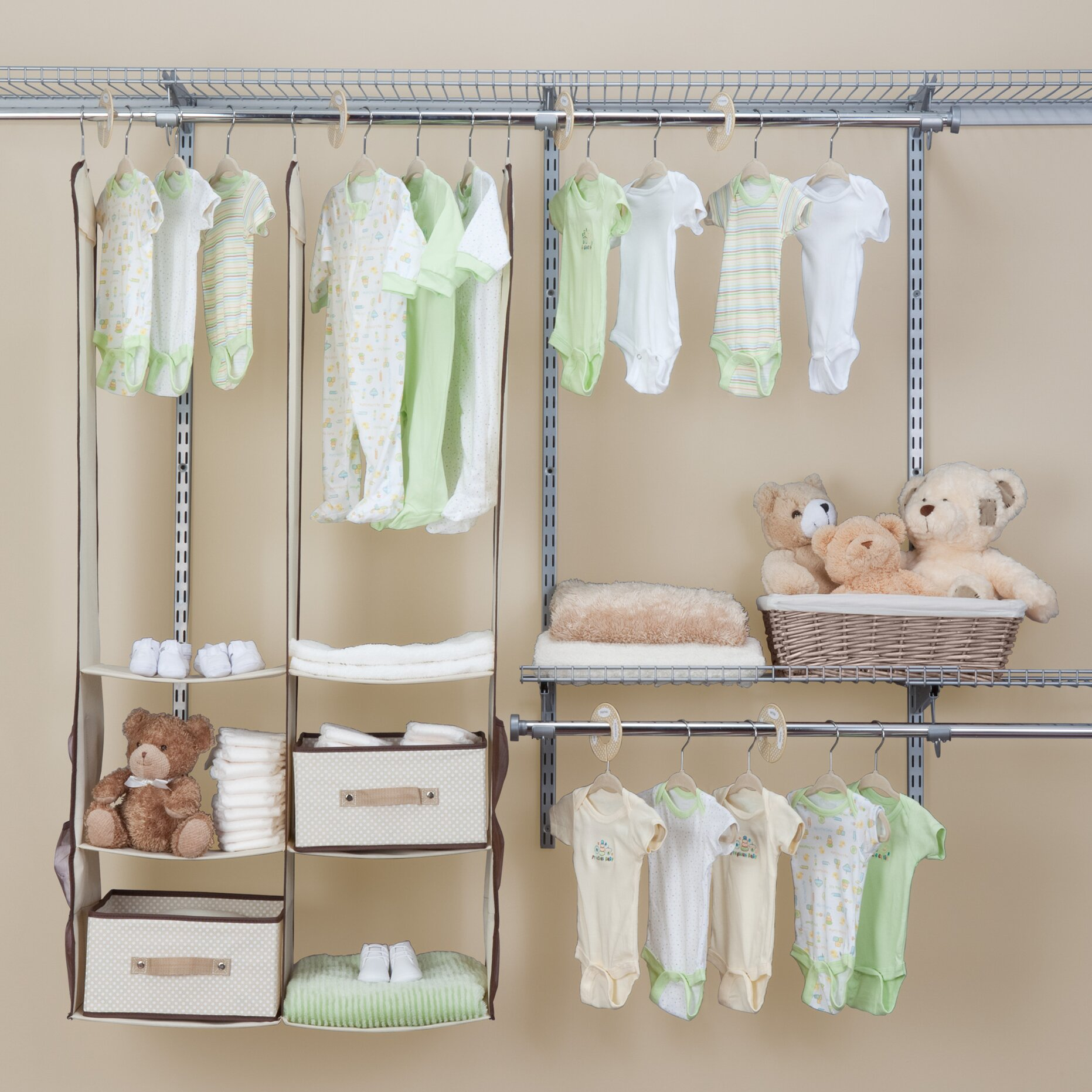 Delta Children Deep Nursery Closet Organizer 24 Piece Set Amp Reviews Wayfair