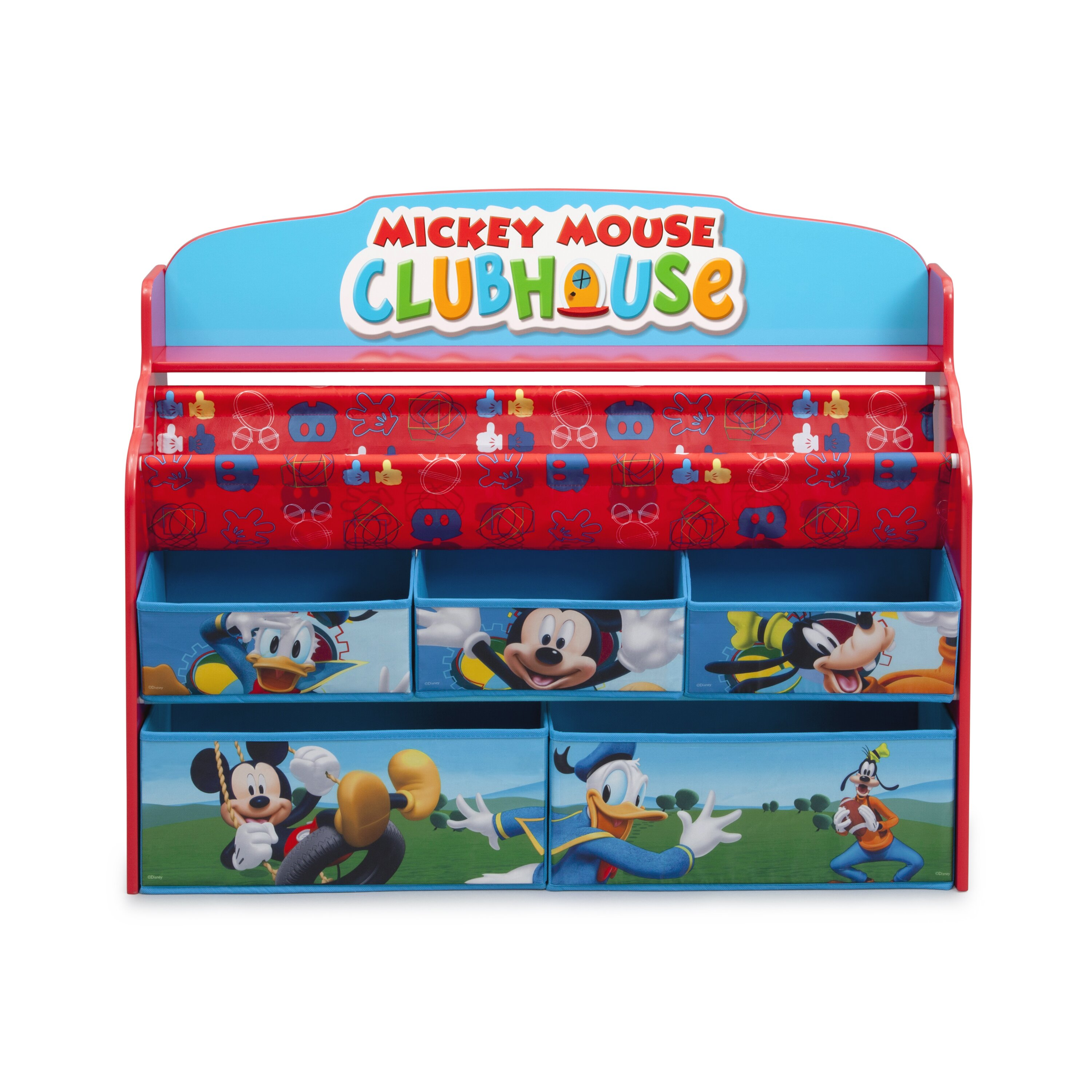 delta children mickey mouse deluxe book and toy organizer. Black Bedroom Furniture Sets. Home Design Ideas