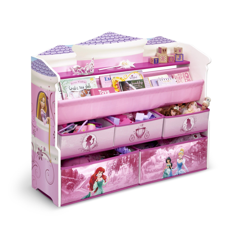 Delta Children Disney Princess Deluxe Book Amp Toy Organizer