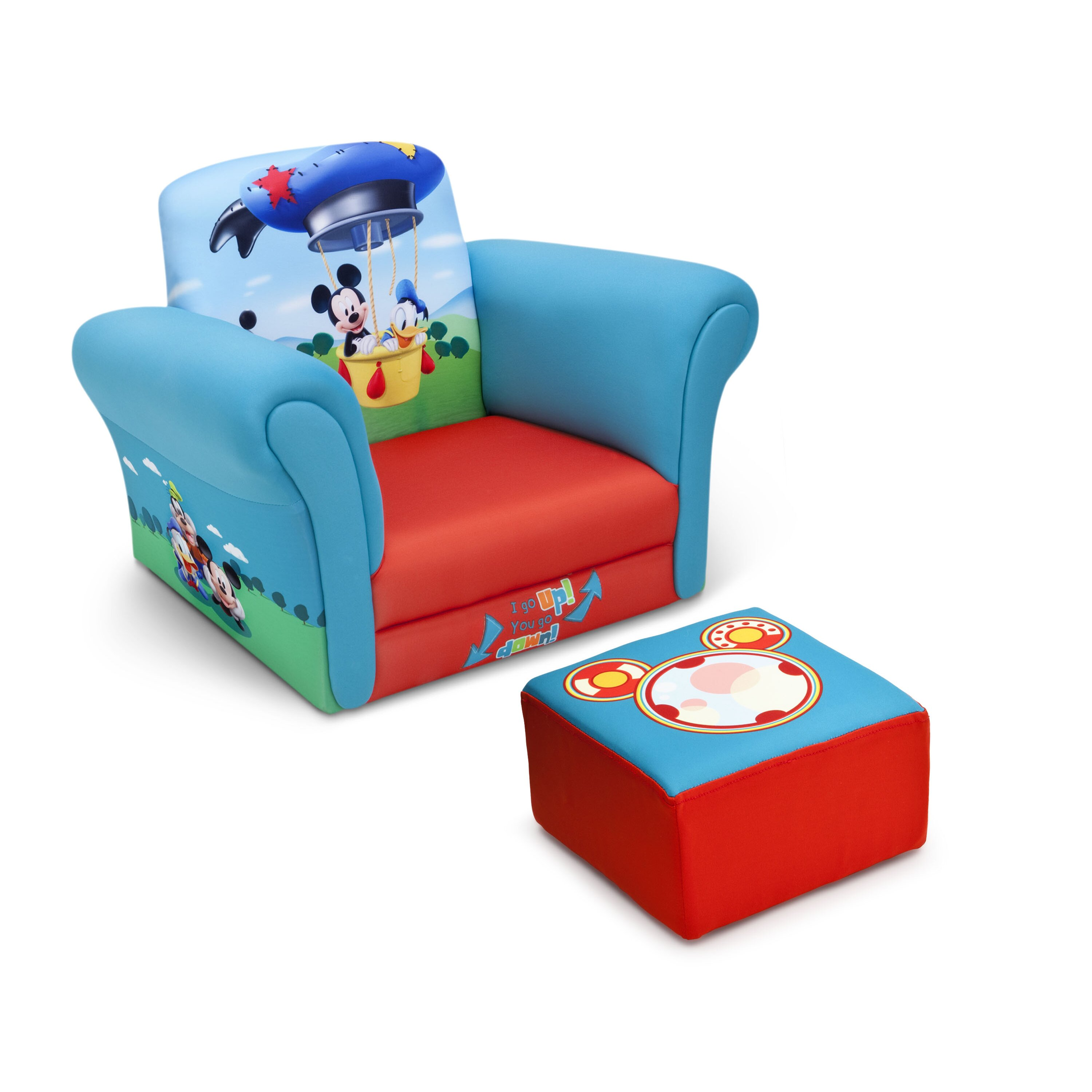 Delta Children Mickey Mouse Upholstered Kids Club Chair