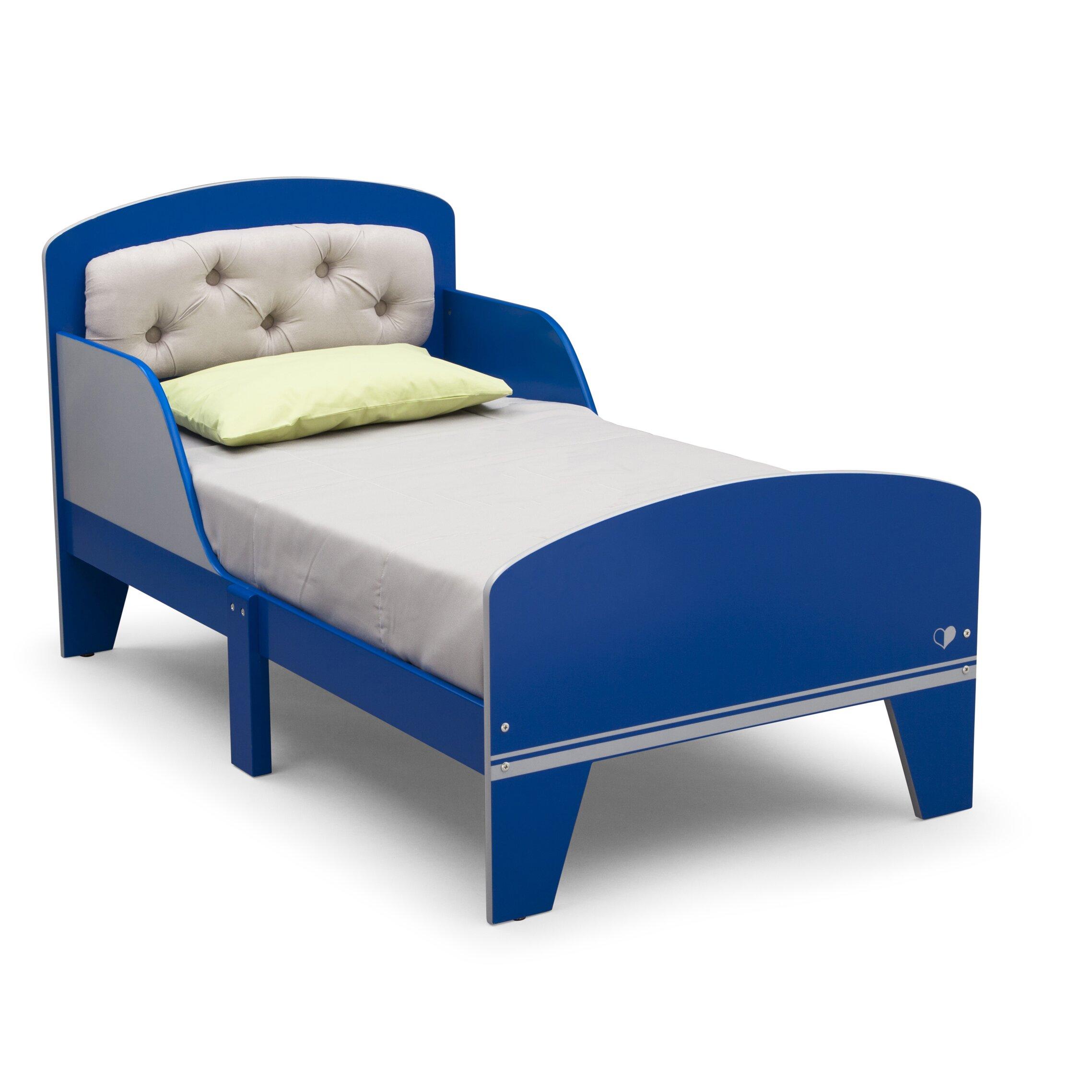 delta children jack and jill toddler bed with storage reviews wayfair. Black Bedroom Furniture Sets. Home Design Ideas