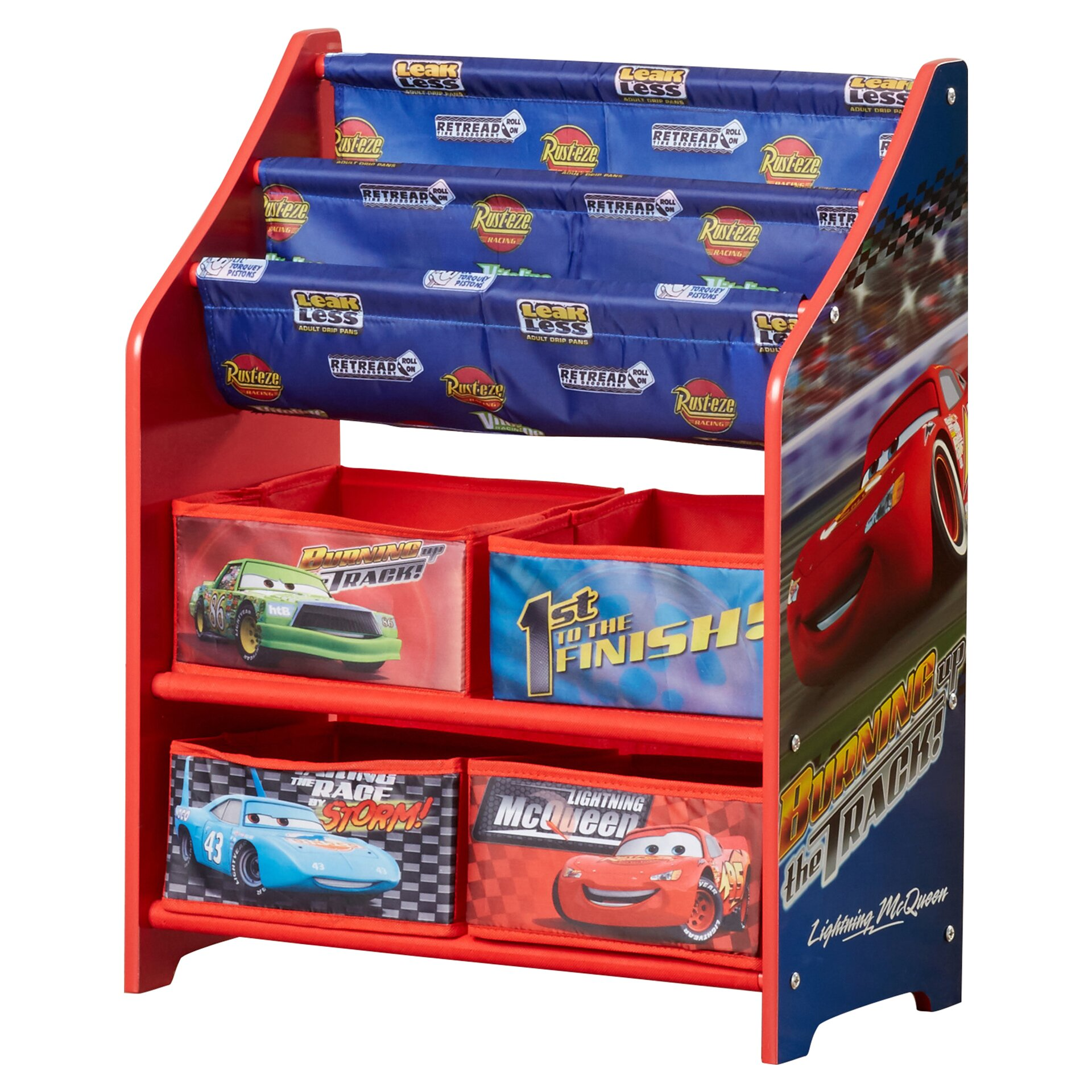 Delta Children Disney Pixar Cars Book Amp Toy Organizer