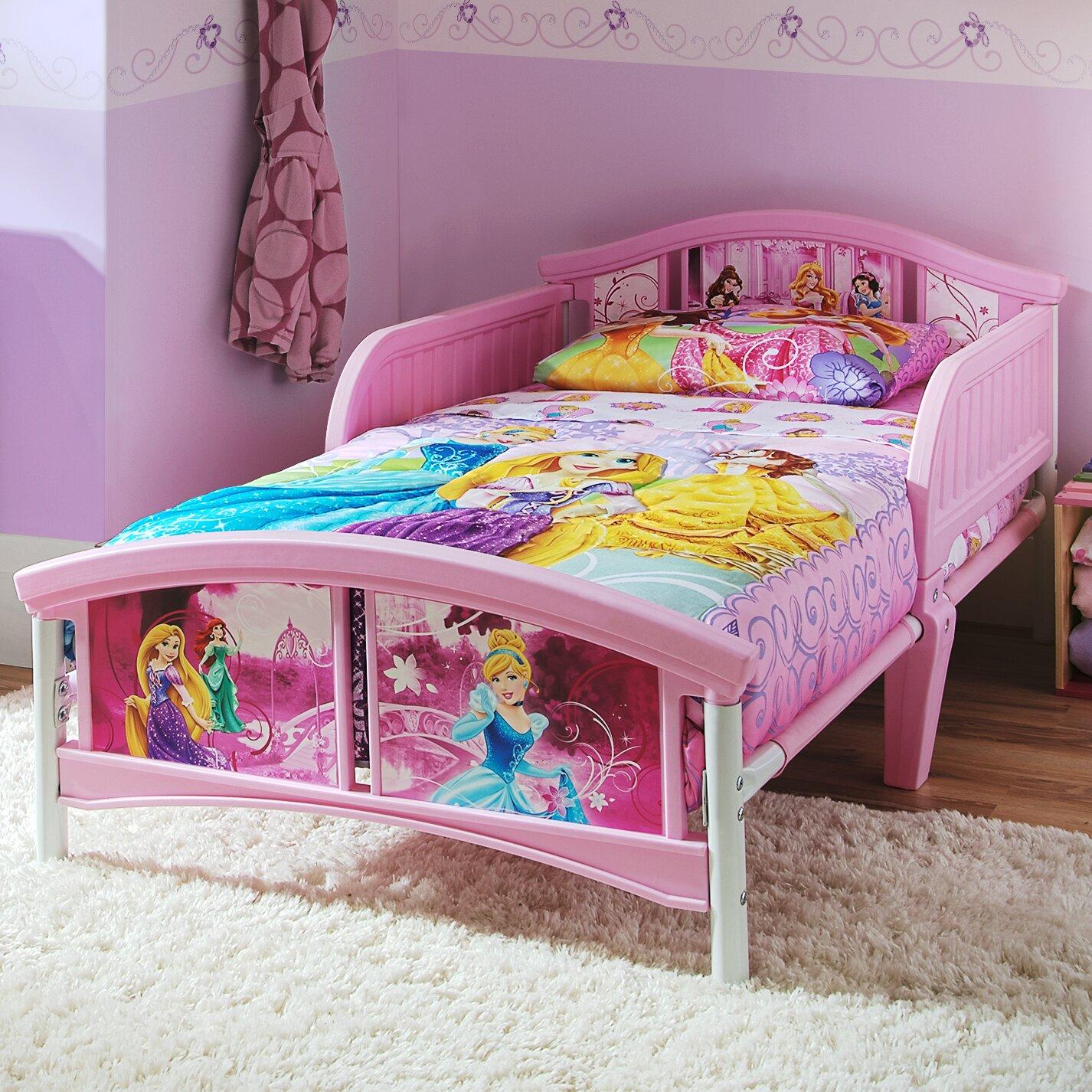 Delta Children Disney Princess Convertible Toddler Bed ...