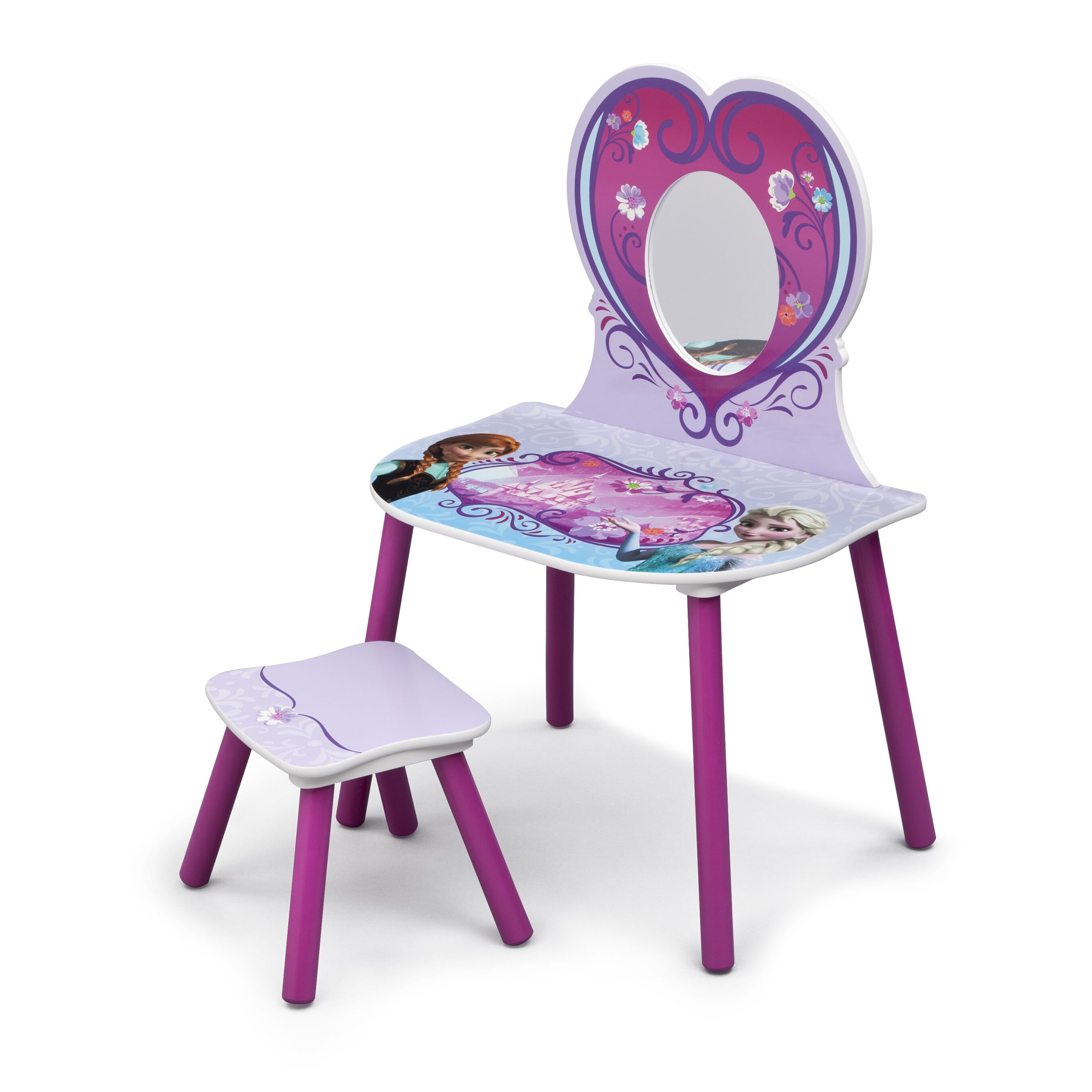 Delta Children Disney Frozen Vanity Set With Mirror