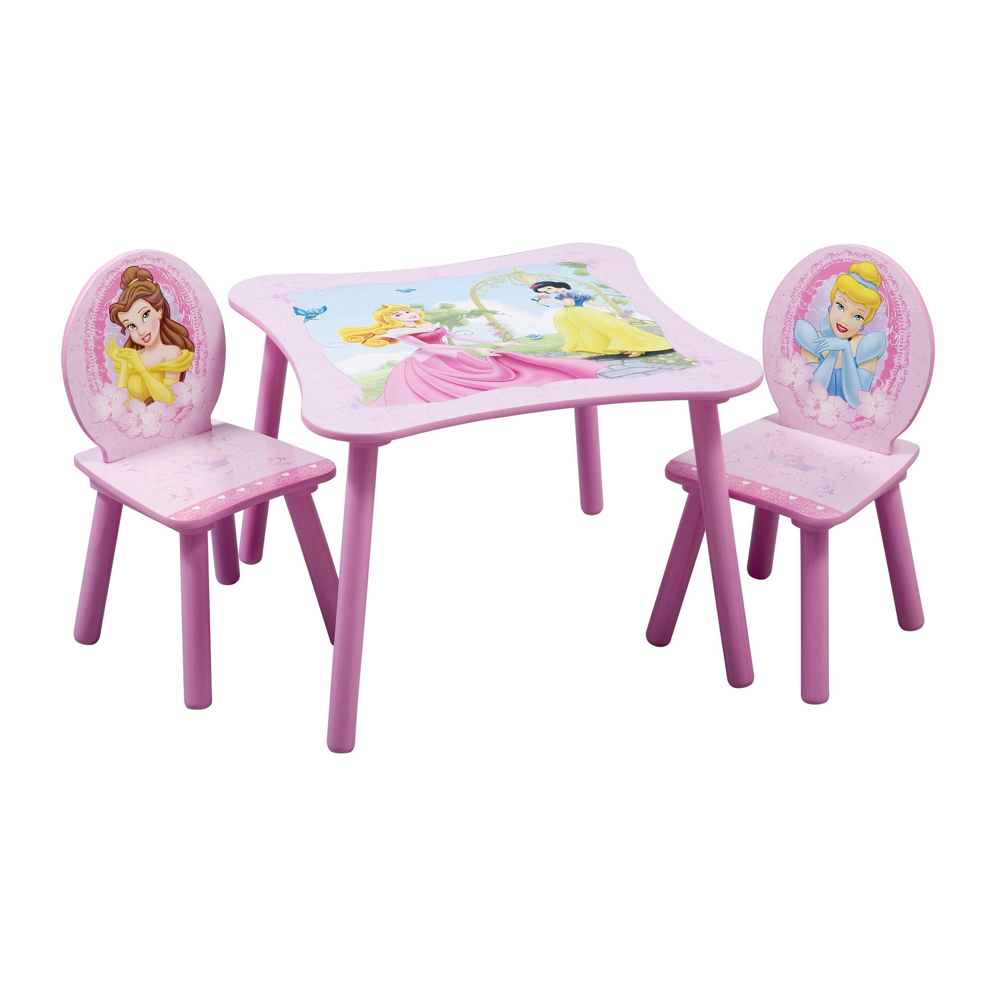 Delta Children Disney Princess Kids 3 Piece Table Amp Chair