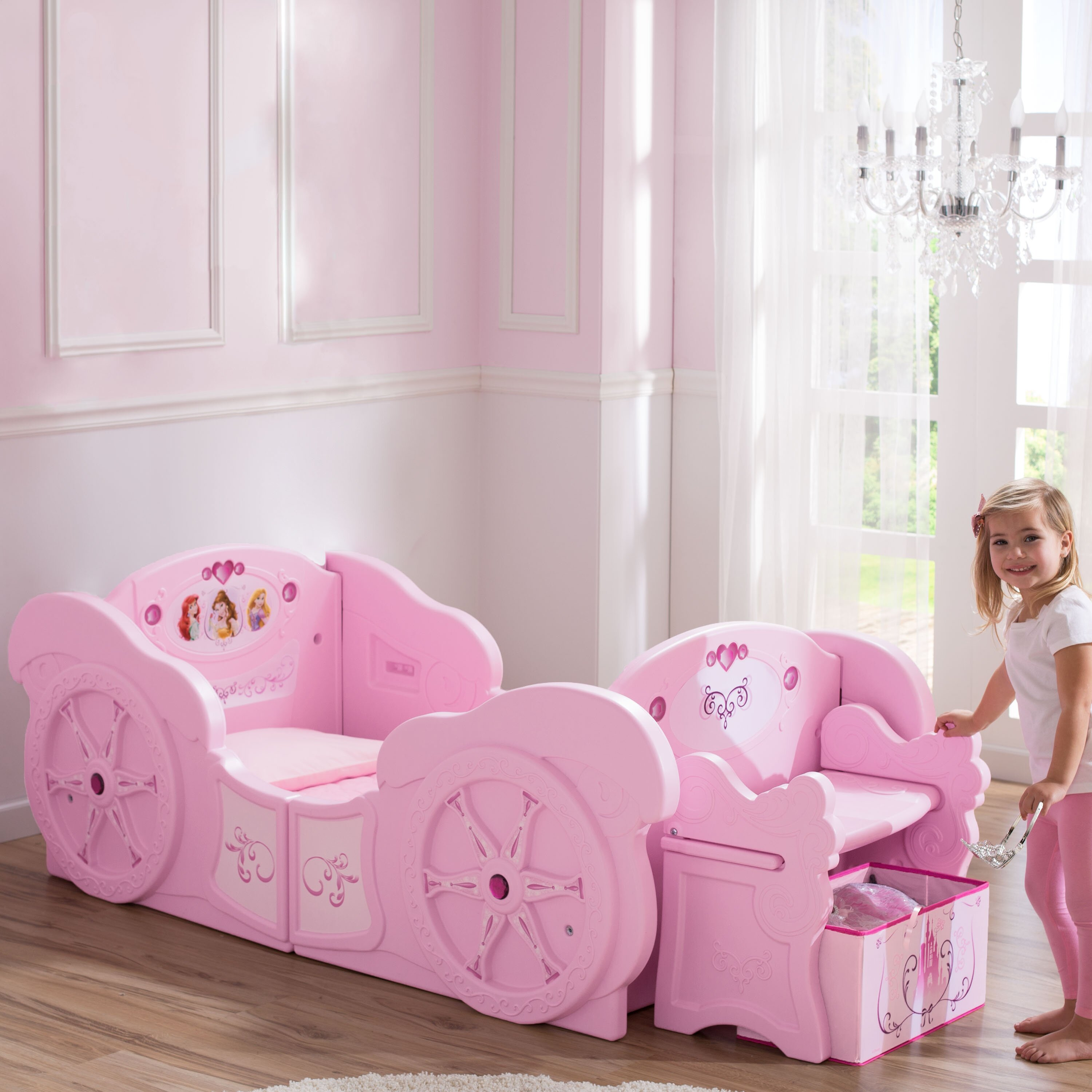 Princess Carriage Convertible Toddler To Twin Bed