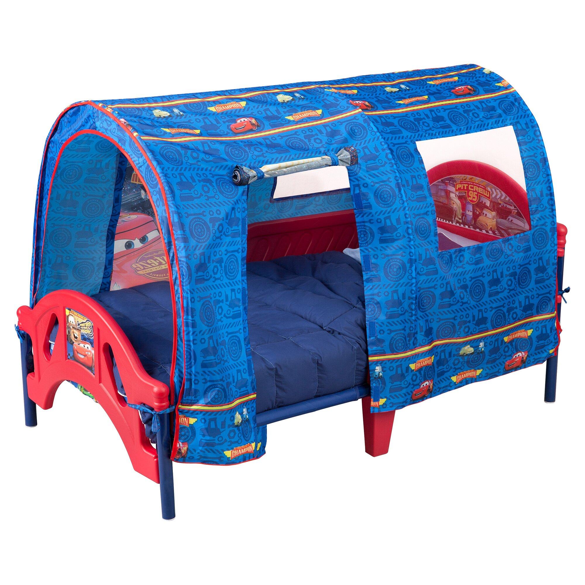 Toddler Canopy Bed : ... Children Disney Pixar Cars Tent Toddler Canopy Bed & Reviews  Wayfair