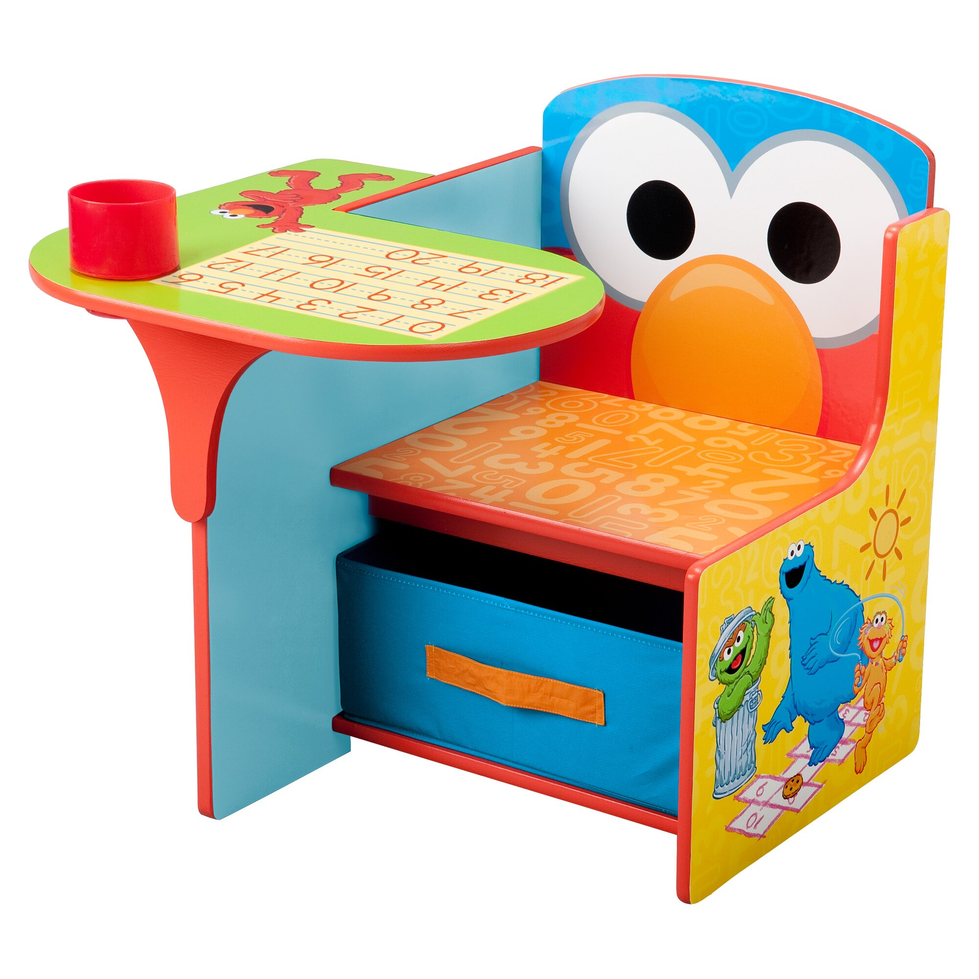 Delta Children Sesame Street Kids Desk Chair With Storage